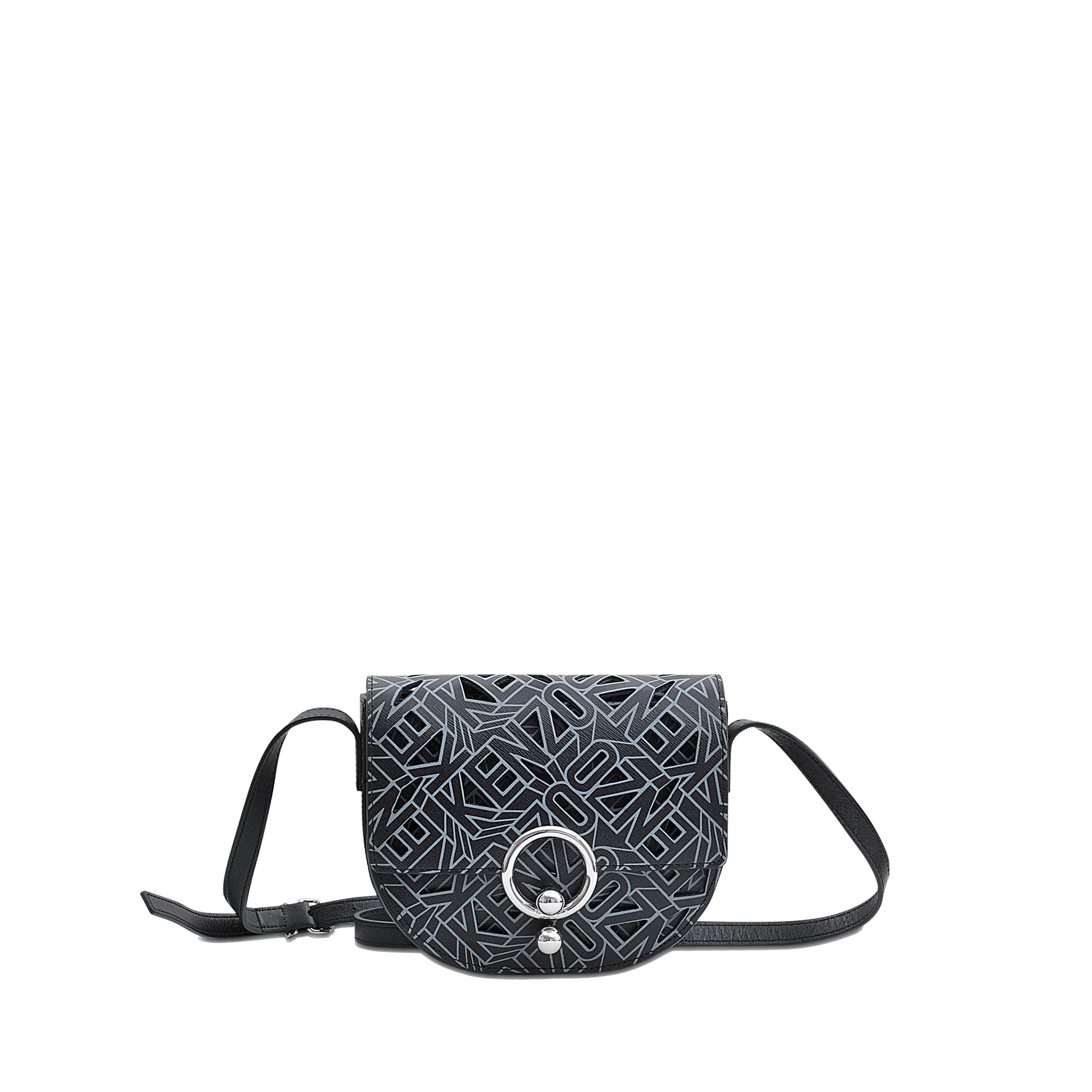 eb363b4cb0c KENZO Piercing Flying Logo Bag in Black - Lyst