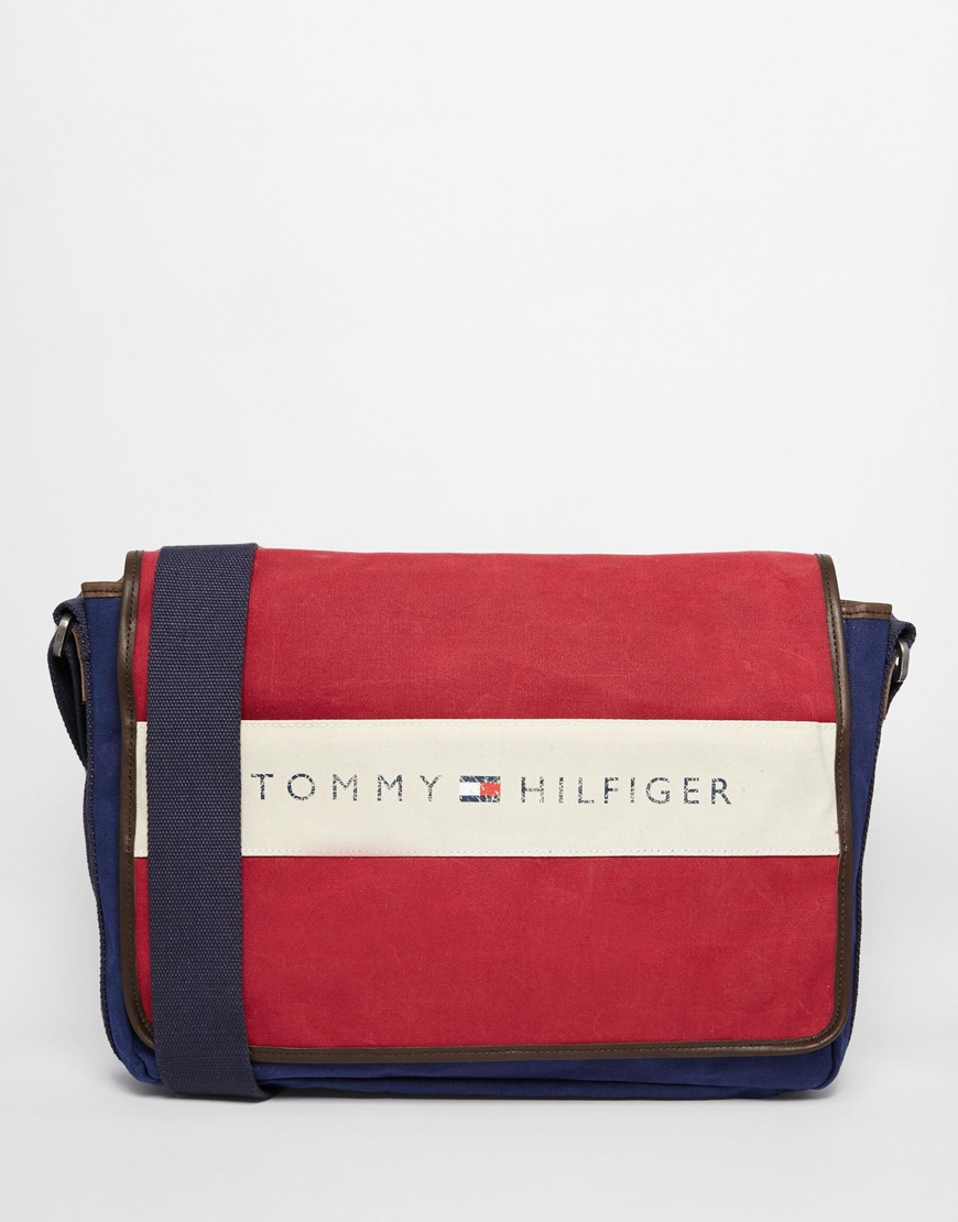 8bae6d89ab Tommy Hilfiger Lance Messenger Bag in Blue for Men - Lyst