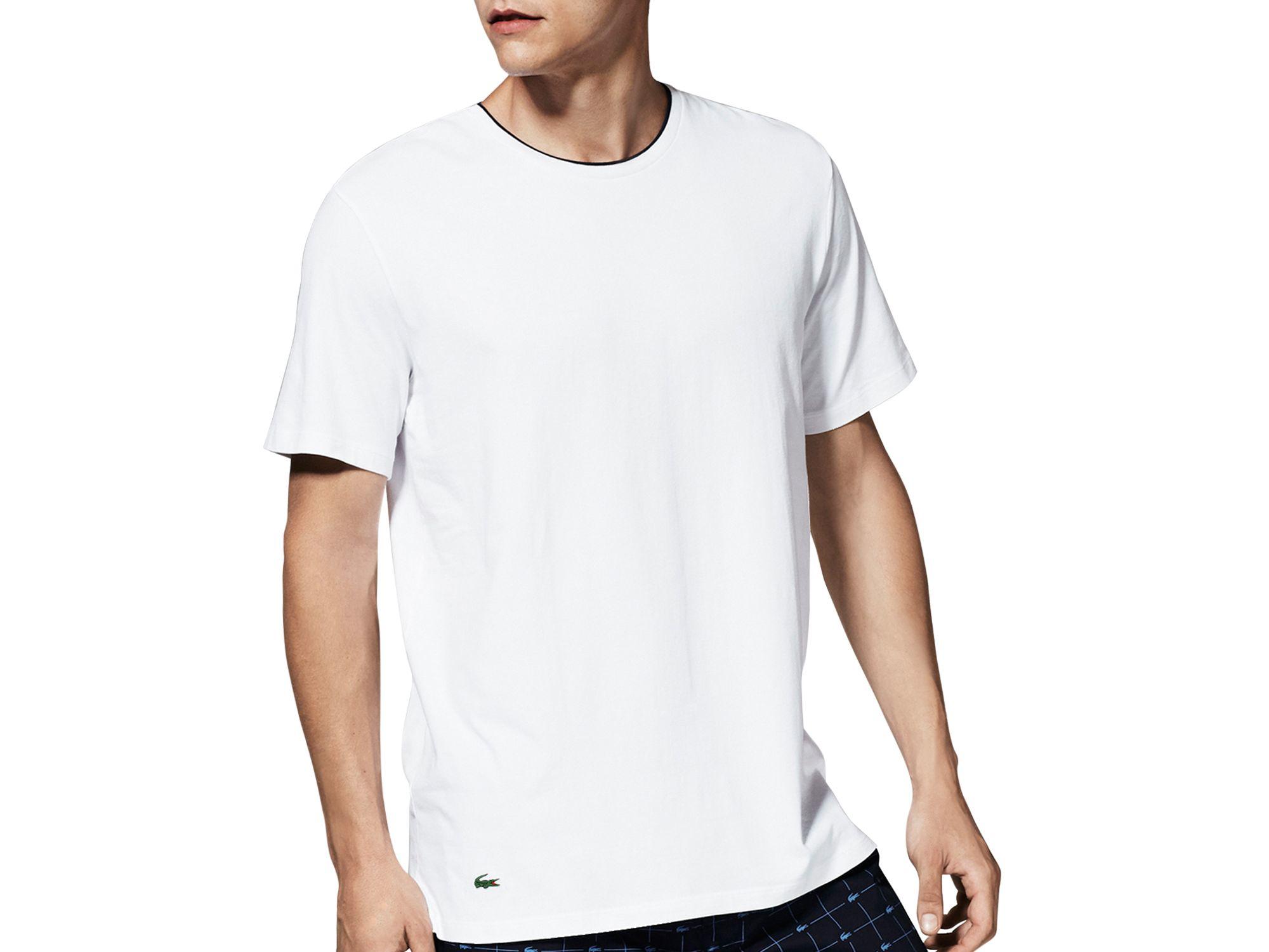 3453b9fd41 Lacoste Mens Cotton Stretch Crew Neck T Shirt   RLDM