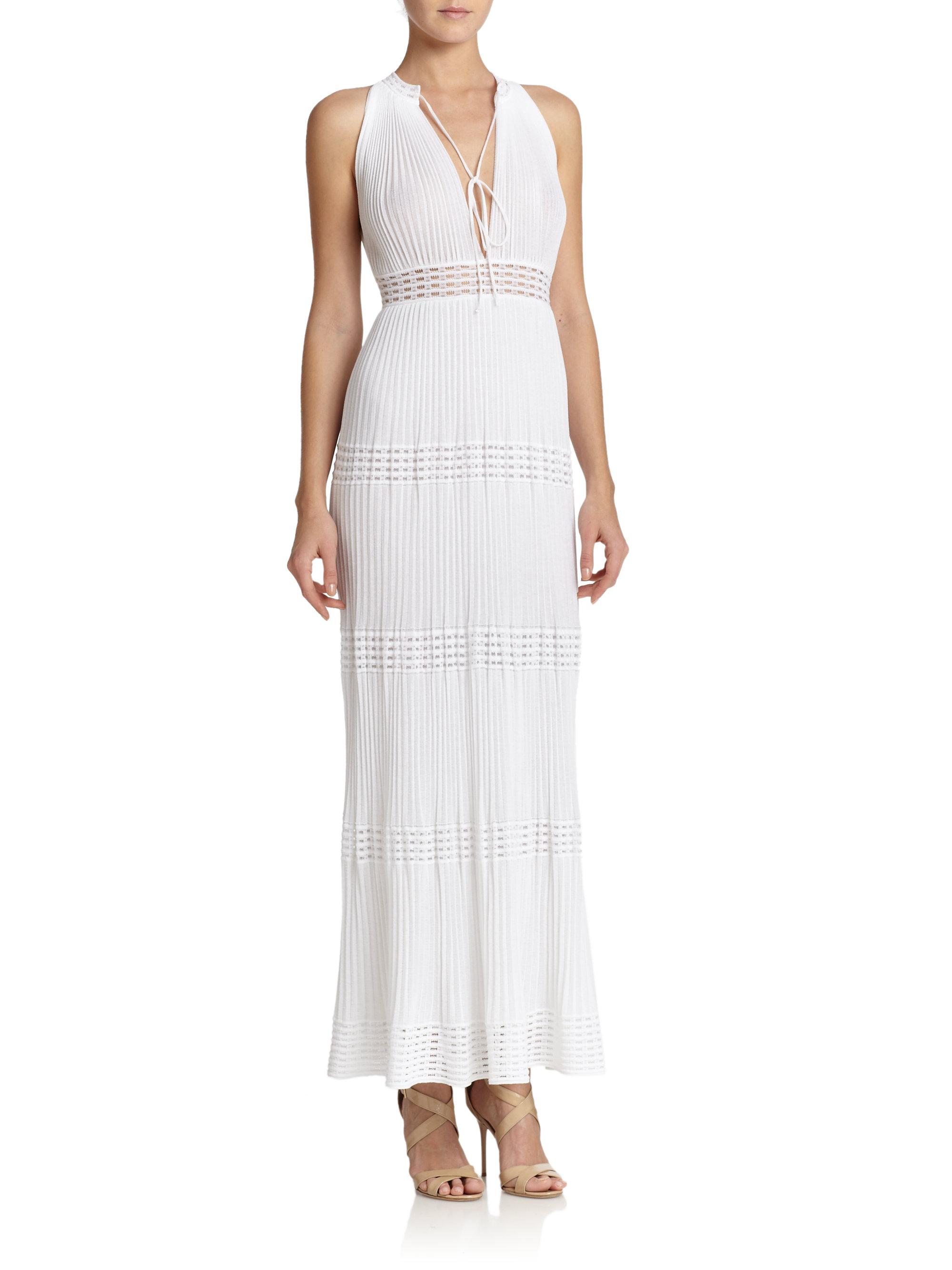 M missoni Grecian Maxi Dress in White  Lyst