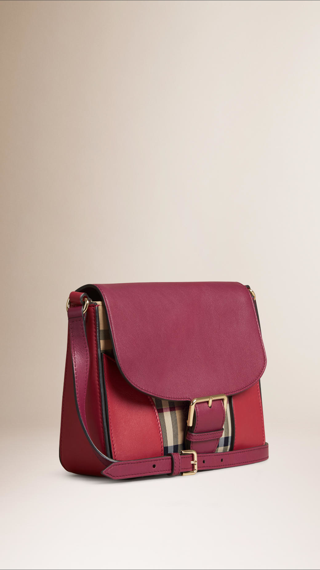 fd8a9a5dae91 Lyst - Burberry The Small Horseferry Check And Leather Cross-Body ...