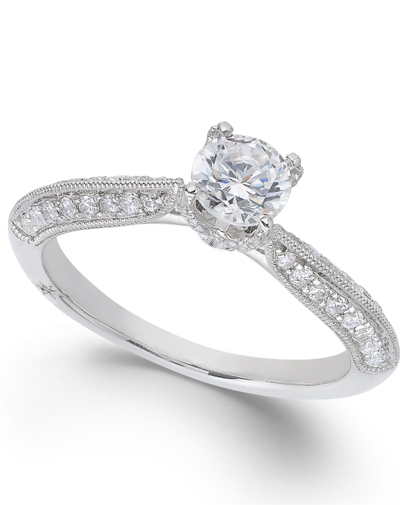 marchesa classic by certified diamond engagement ring in. Black Bedroom Furniture Sets. Home Design Ideas