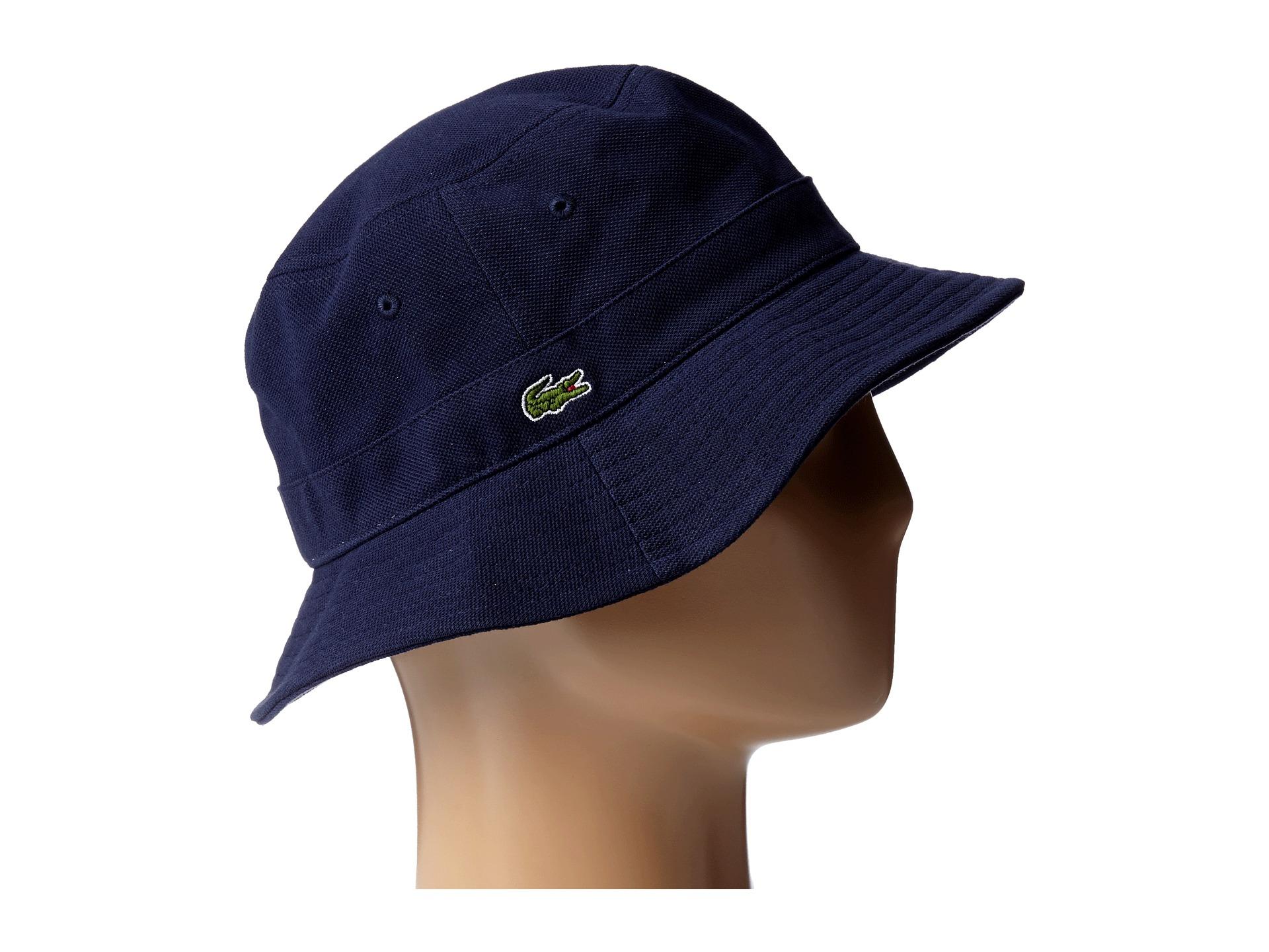 a36ce9e29dd097 Lacoste Bucket Cap in Blue for Men - Lyst