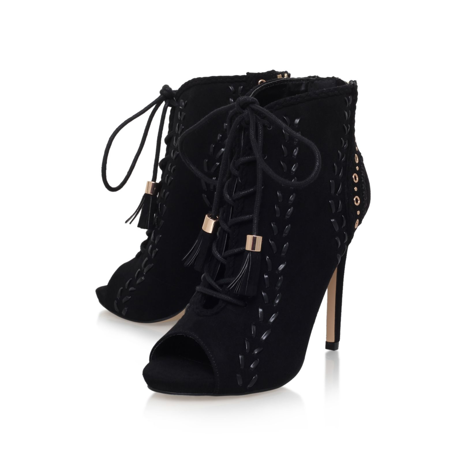 miss kg greta lace up shoe boots in black lyst