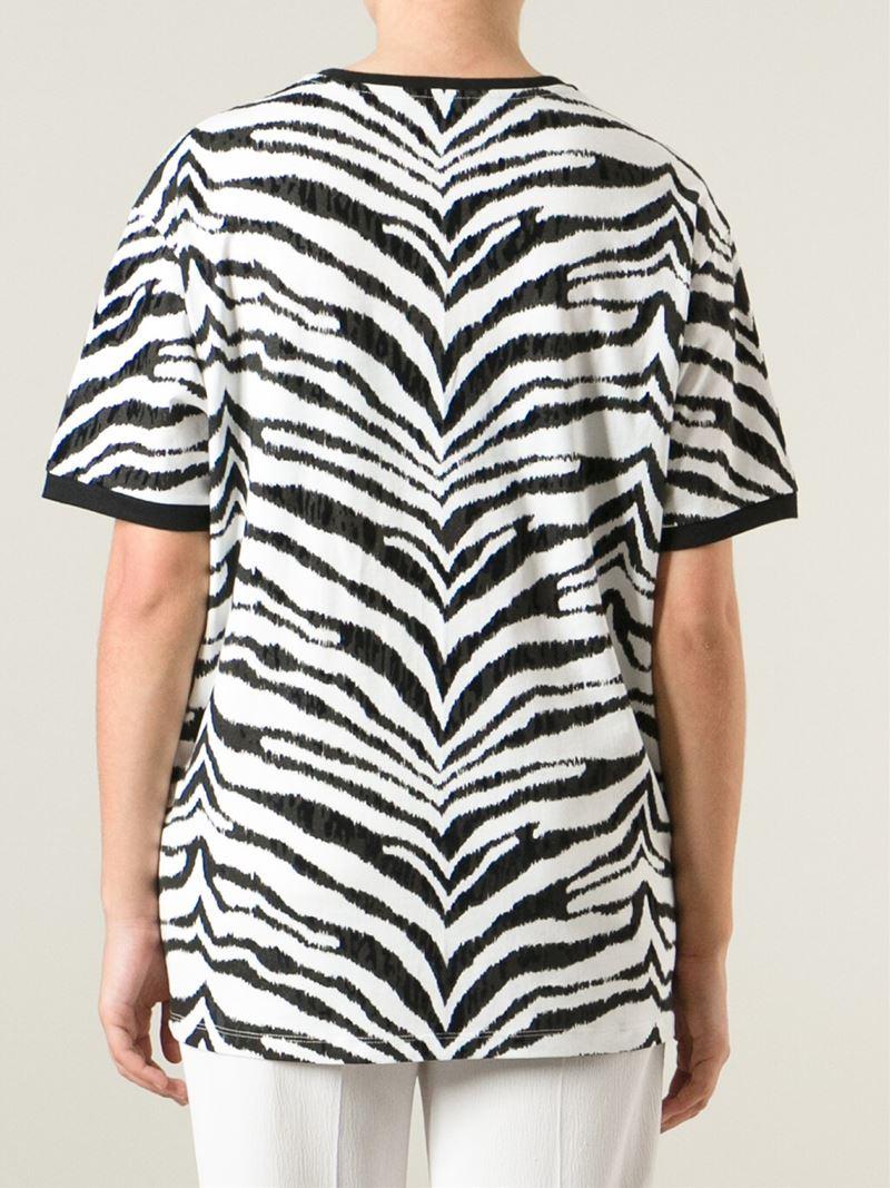 Emanuel ungaro long digitally printed t shirt in black lyst for Digital printed t shirts