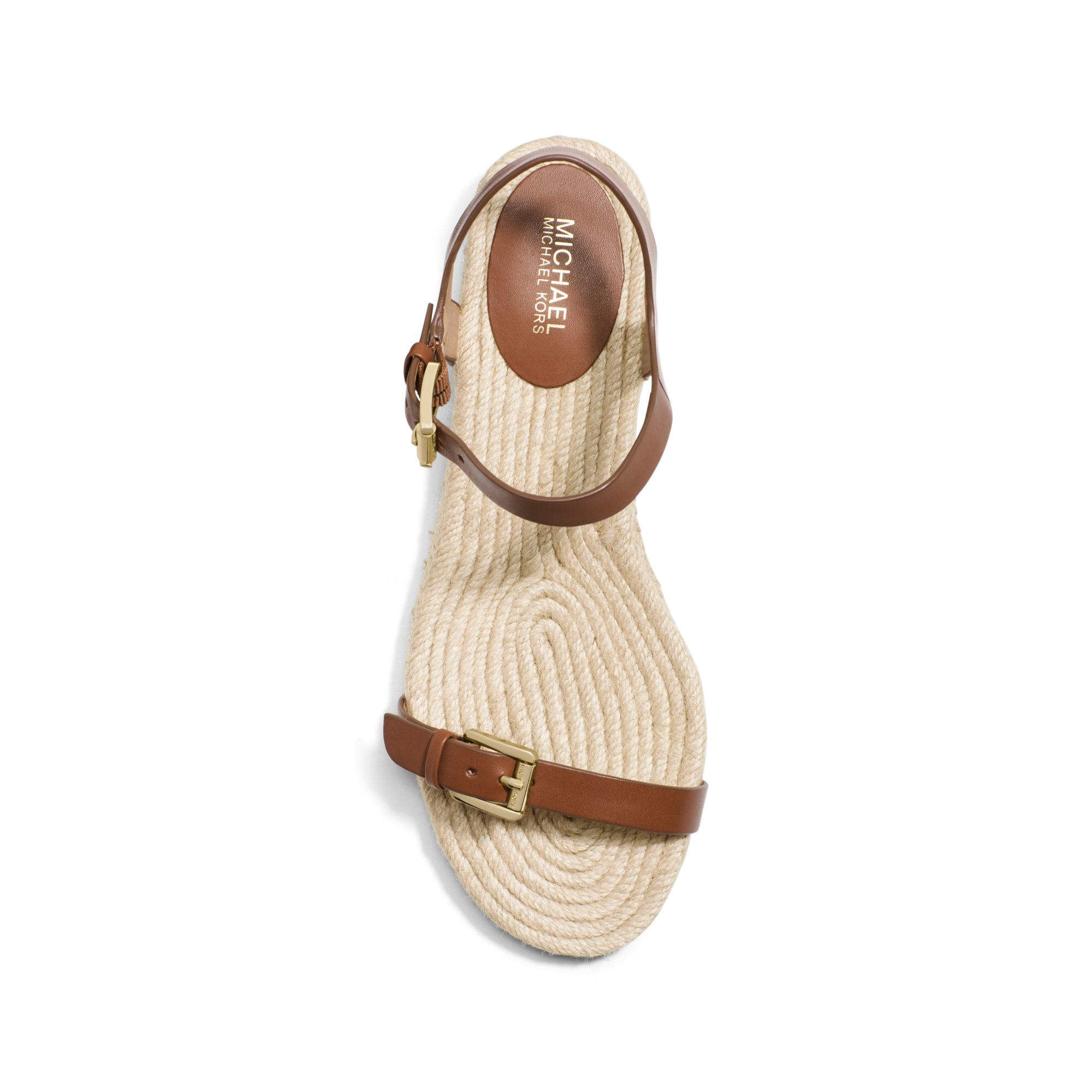 Lyst Michael Kors Kyla Leather Sandal