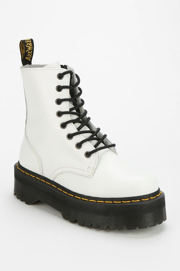 8d8860f67200 Lyst - Dr. Martens Jadon 8eye Platform Boot in White