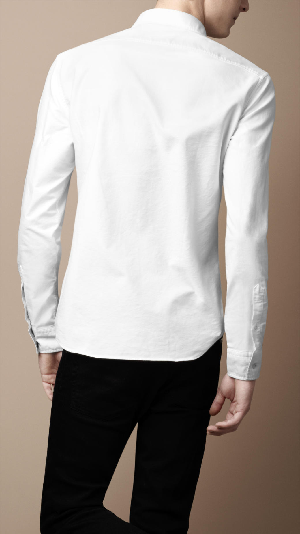 Burberry Button-down Cotton Shirt in White for Men | Lyst