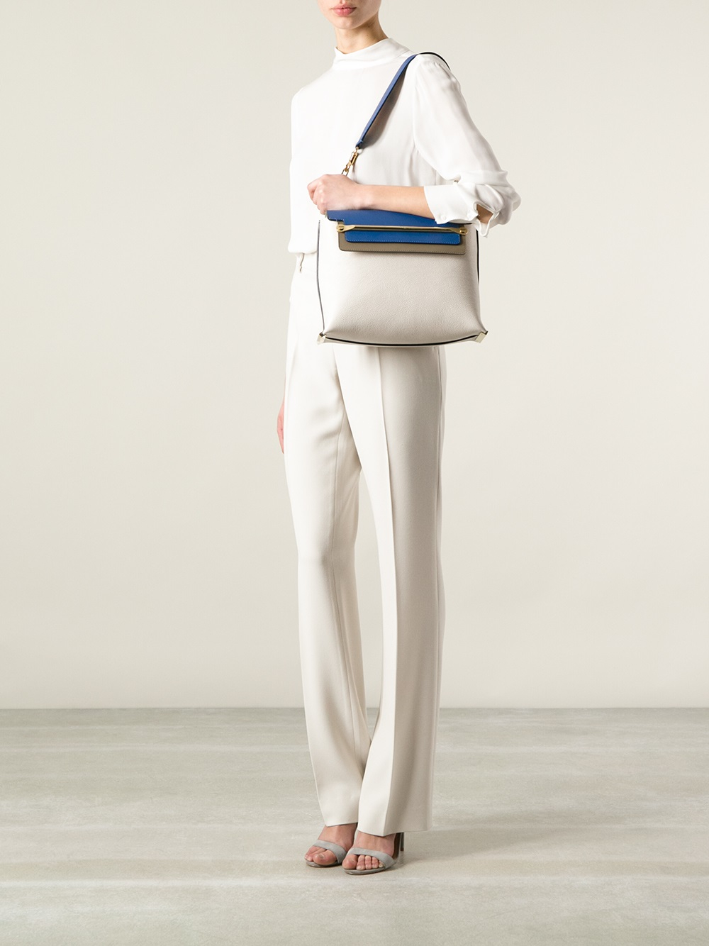 Chlo�� Medium \u0026#39;clare\u0026#39; Shoulder Bag in White | Lyst