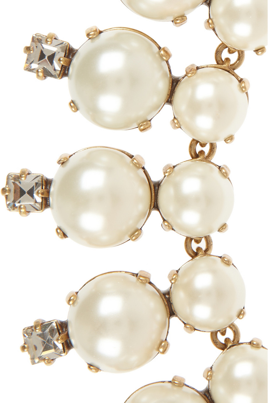 Lyst J Crew Royal Goldtone Faux Pearl And Cubic Zirconia