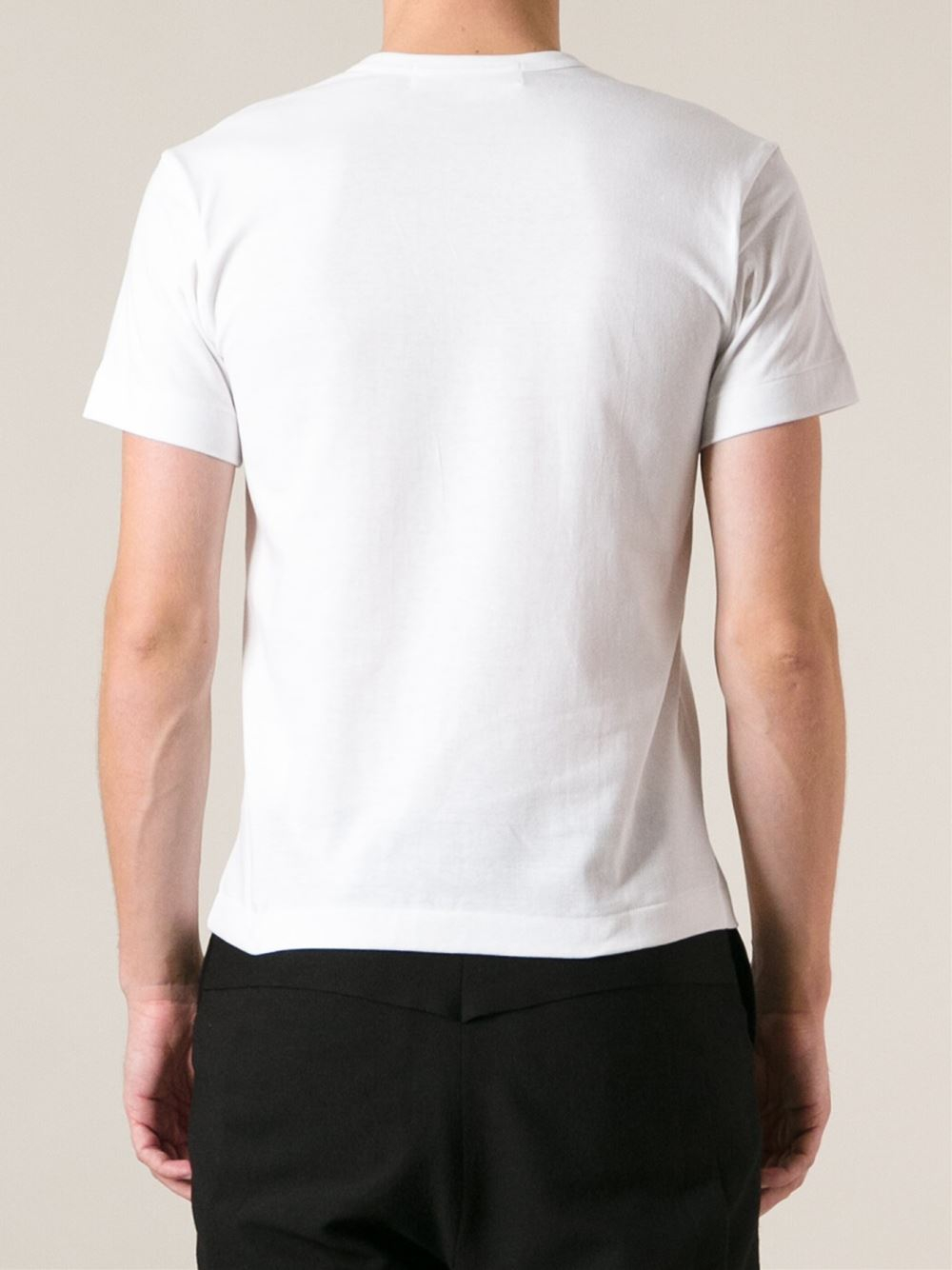 Play Comme Des Gar Ons Printed Heart T Shirt In White For