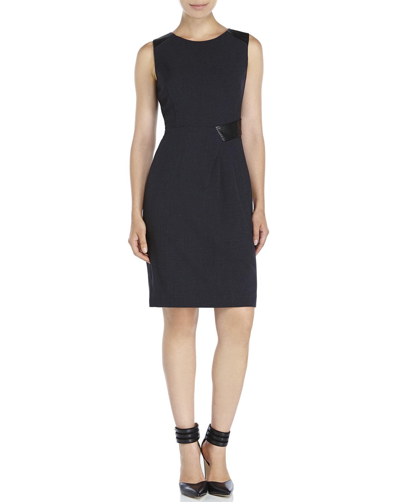 Ivanka trump Side Waist Detail Dress in Gray   Lyst