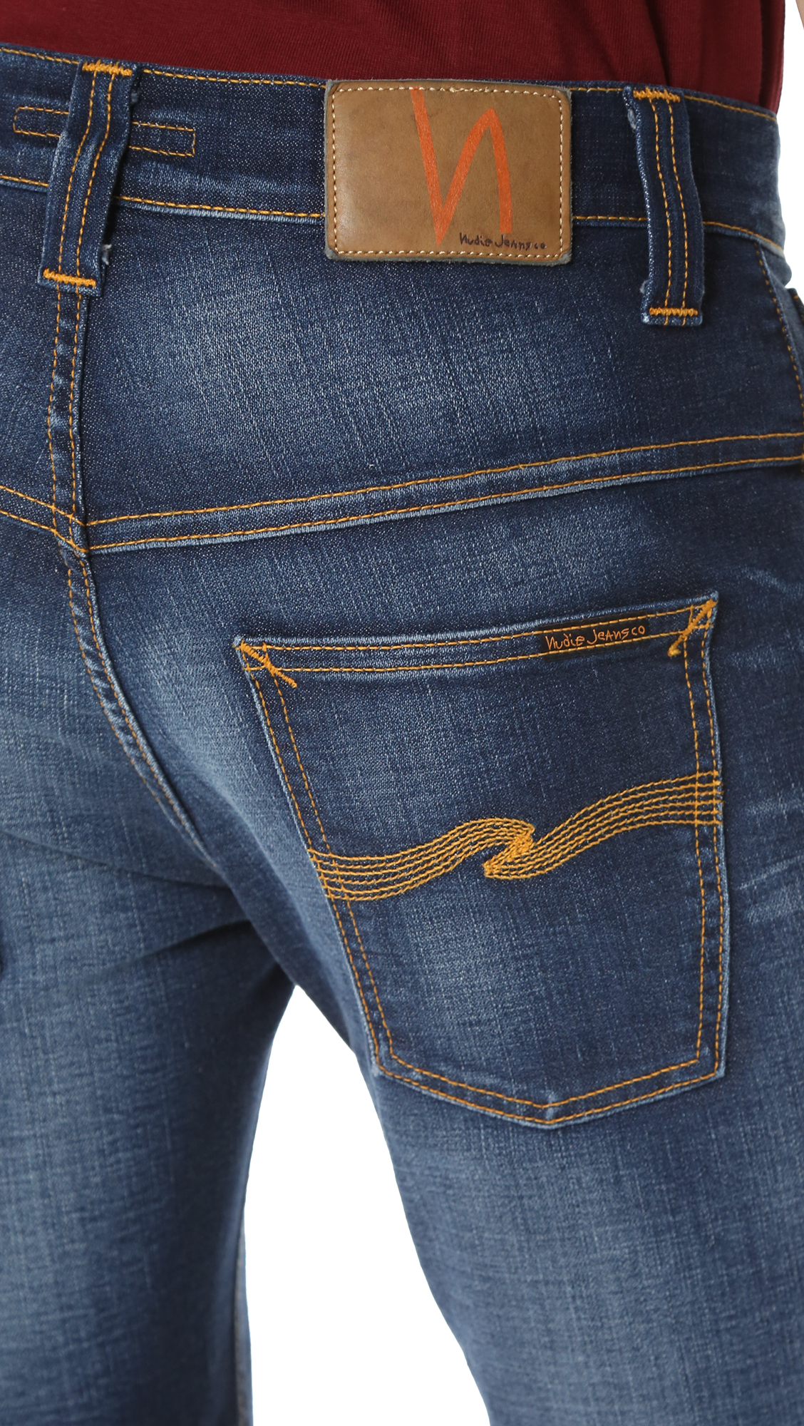 nudie jeans thin finn jeans in blue for men lyst. Black Bedroom Furniture Sets. Home Design Ideas