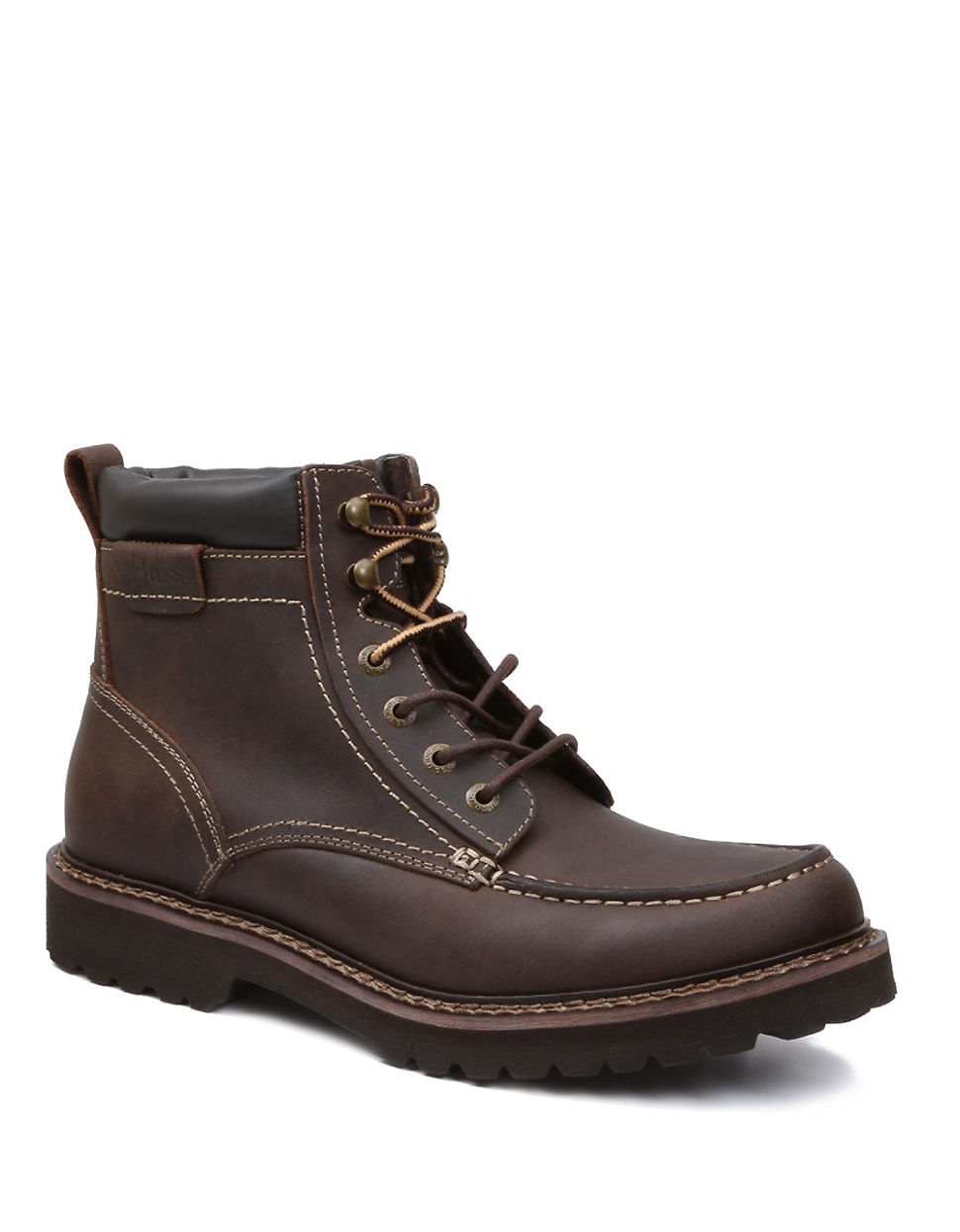 g h bass co errol leather boots in brown for lyst