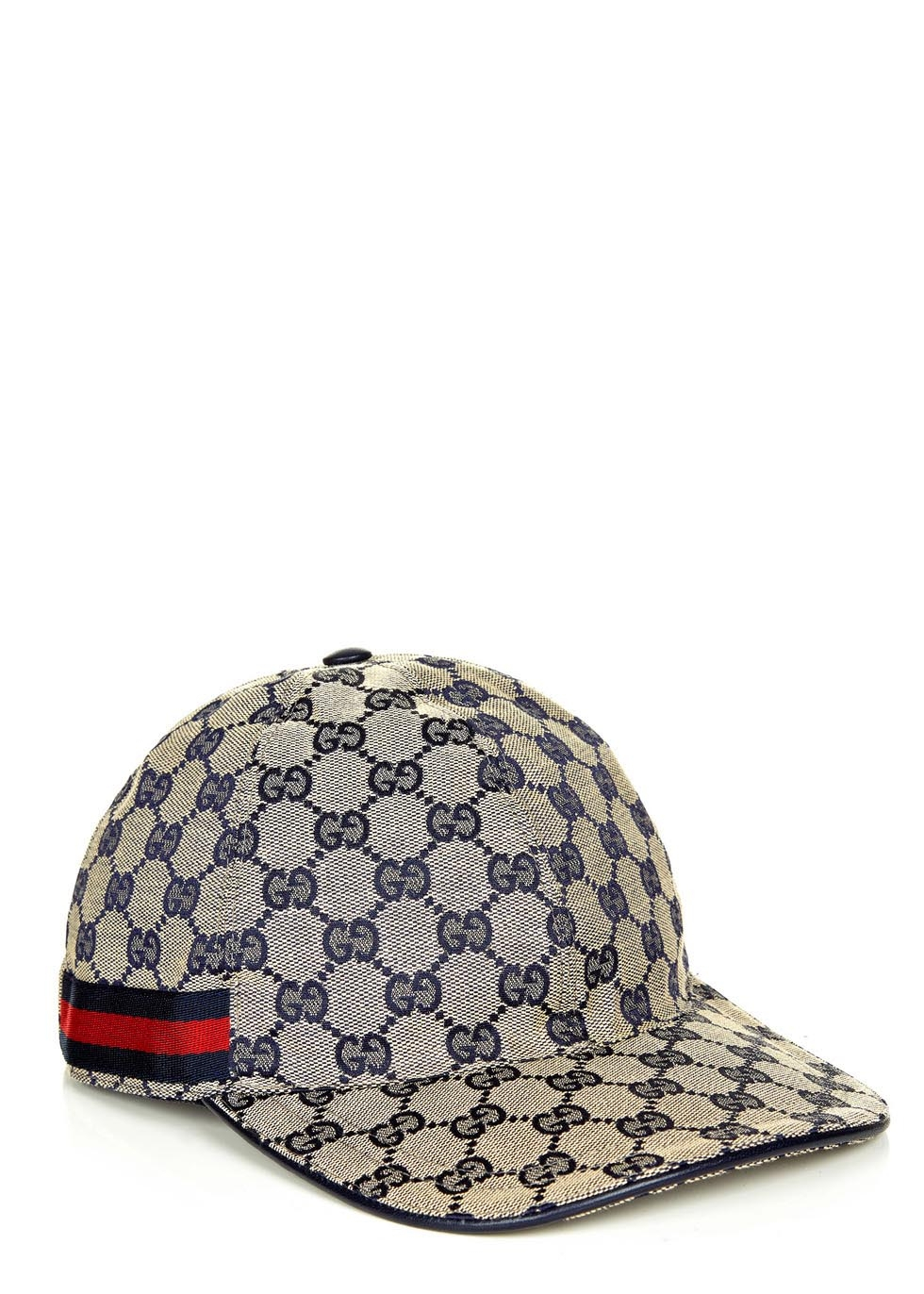 Gucci Gg Navy Canvas Cap In Gray For Men Lyst