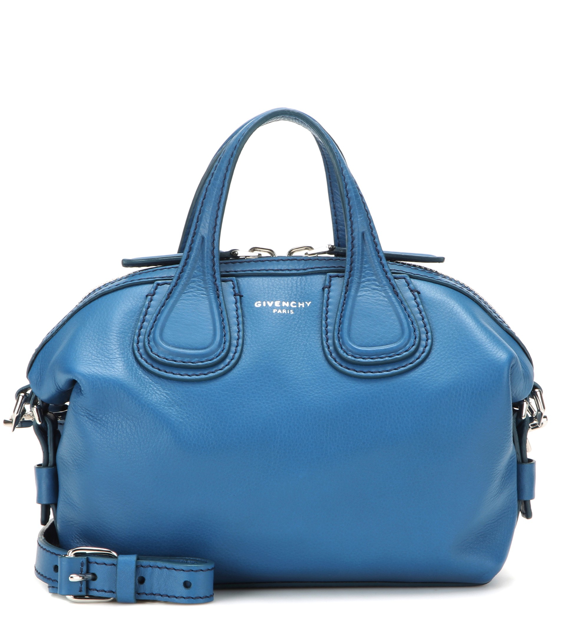 d54ec9285f40 Givenchy Nightingale Micro Leather Shoulder Bag in Blue - Lyst