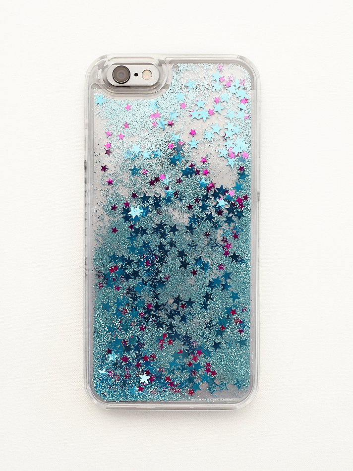 free people iphone case lyst free liquid glitter iphone in blue 5941