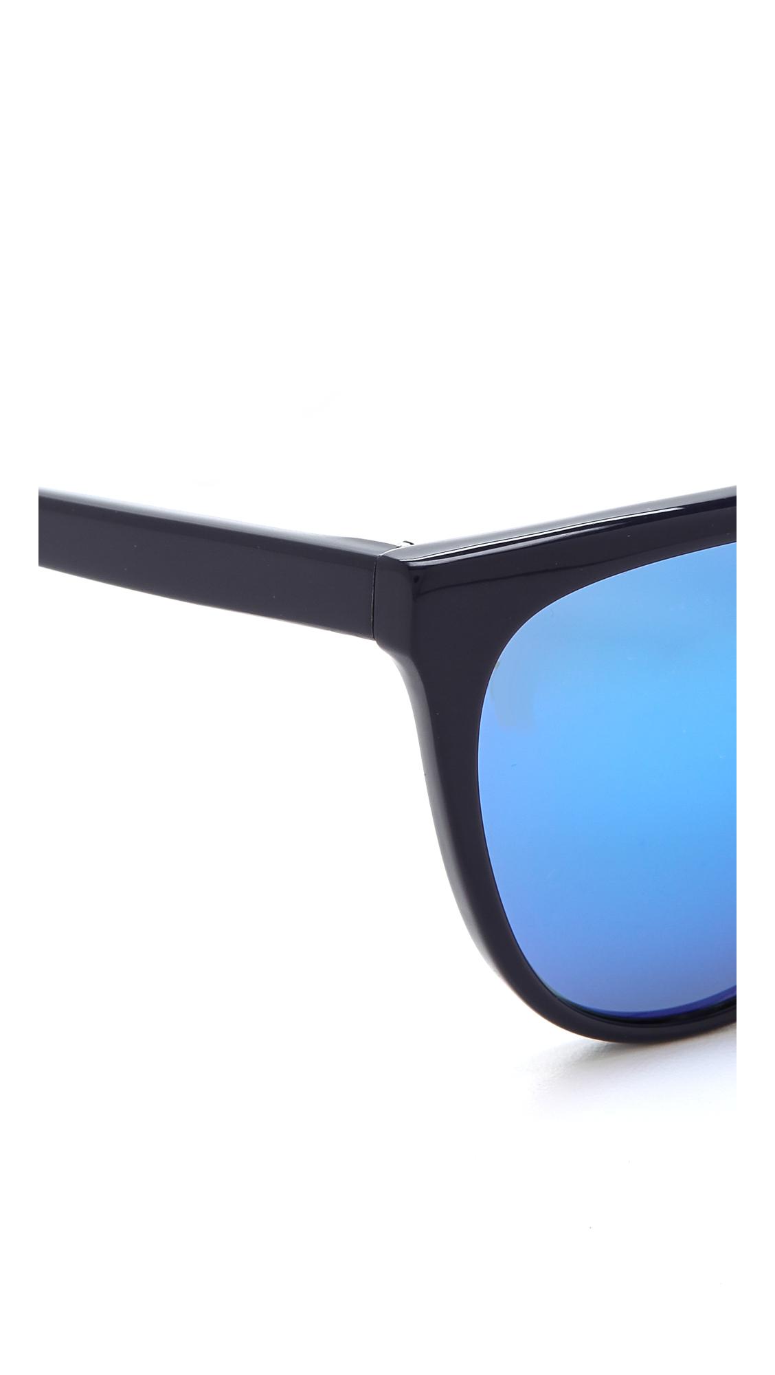 Lyst 3 1 Phillip Lim Flat Top Sunglasses Blue Mirror