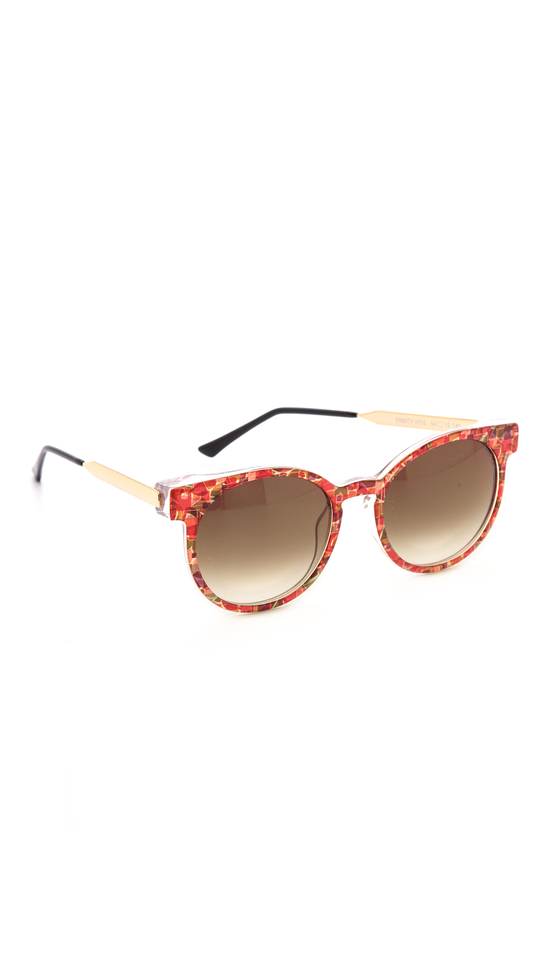 c86cf858c1 Lyst - Thierry Lasry Painty Sunglasses - Greenbrown in Orange
