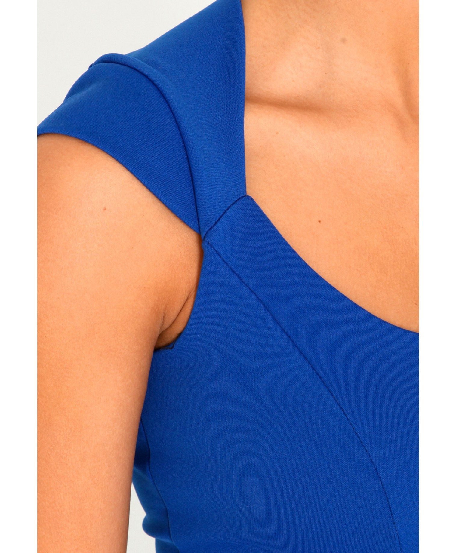 Missguided Francheska Tailored Peplum Dress in Royal Blue in Blue ...