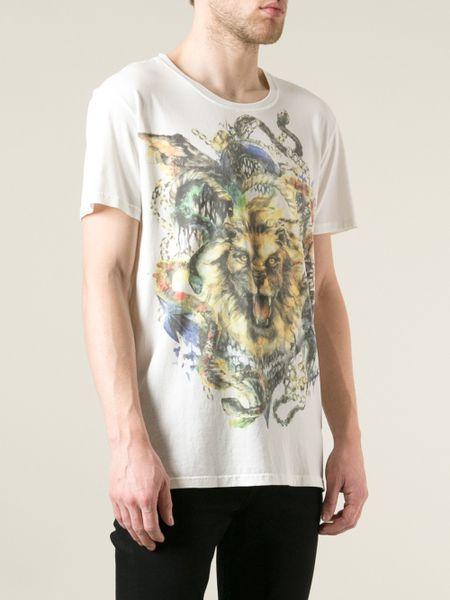 Snake Print Shirt Mens And Snake Printed T-shirt