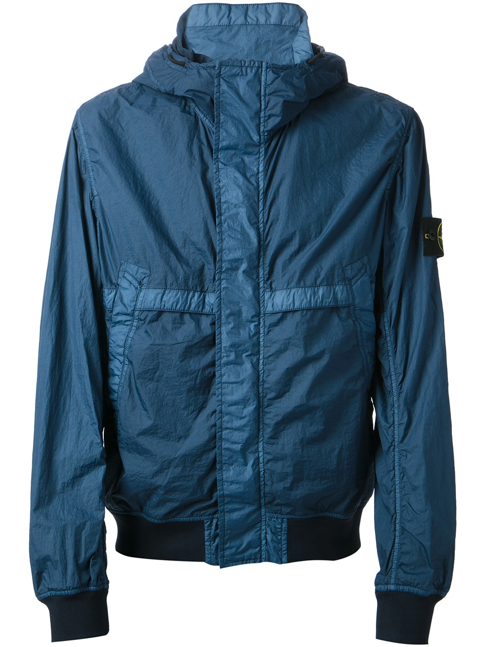 stone island hooded windbreaker in blue for men lyst. Black Bedroom Furniture Sets. Home Design Ideas