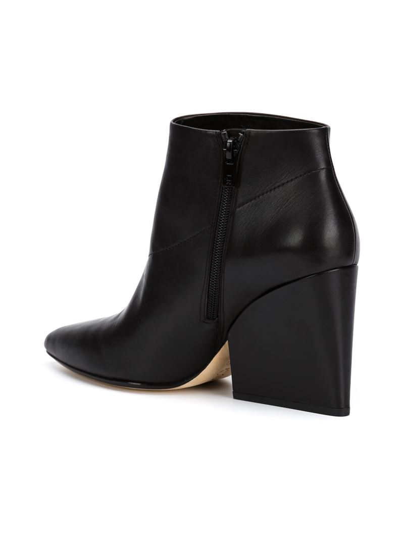 522be6c94d70 Lyst - Loeffler Randall Block Heel Ankle Boots in Black