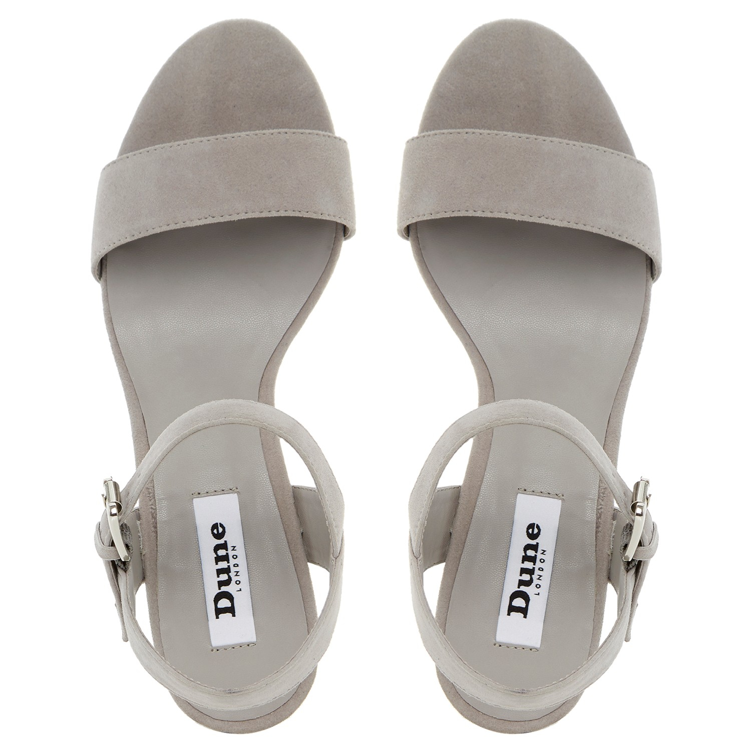 05c74d4239e Dune Harah Jewelled Block Heeled Sandals in Gray - Lyst