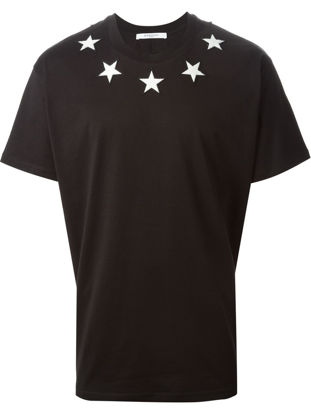 Givenchy Star Patch T Shirt In Black For Men Lyst