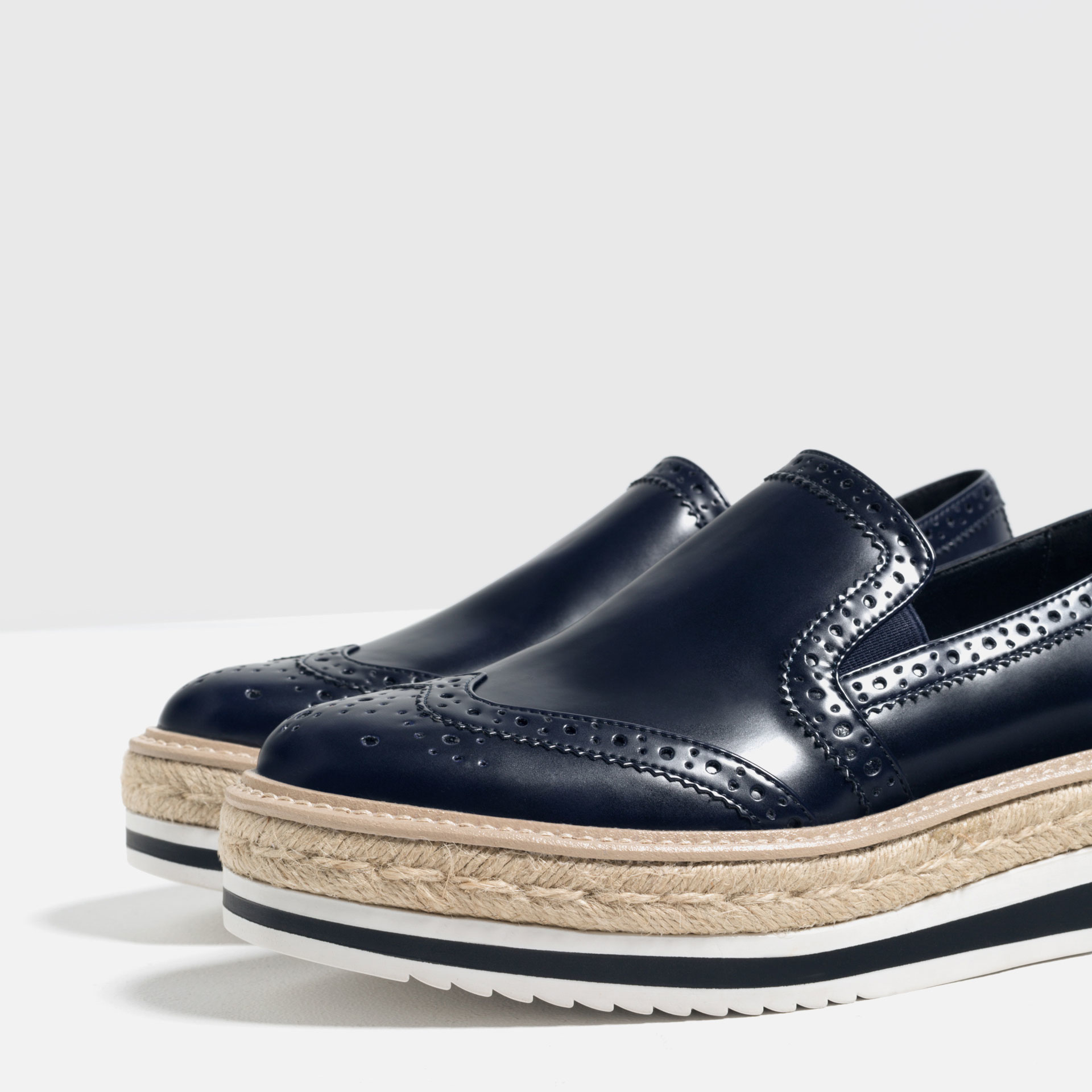 Zara Flat Platform Shoes in Blue for Men | Lyst