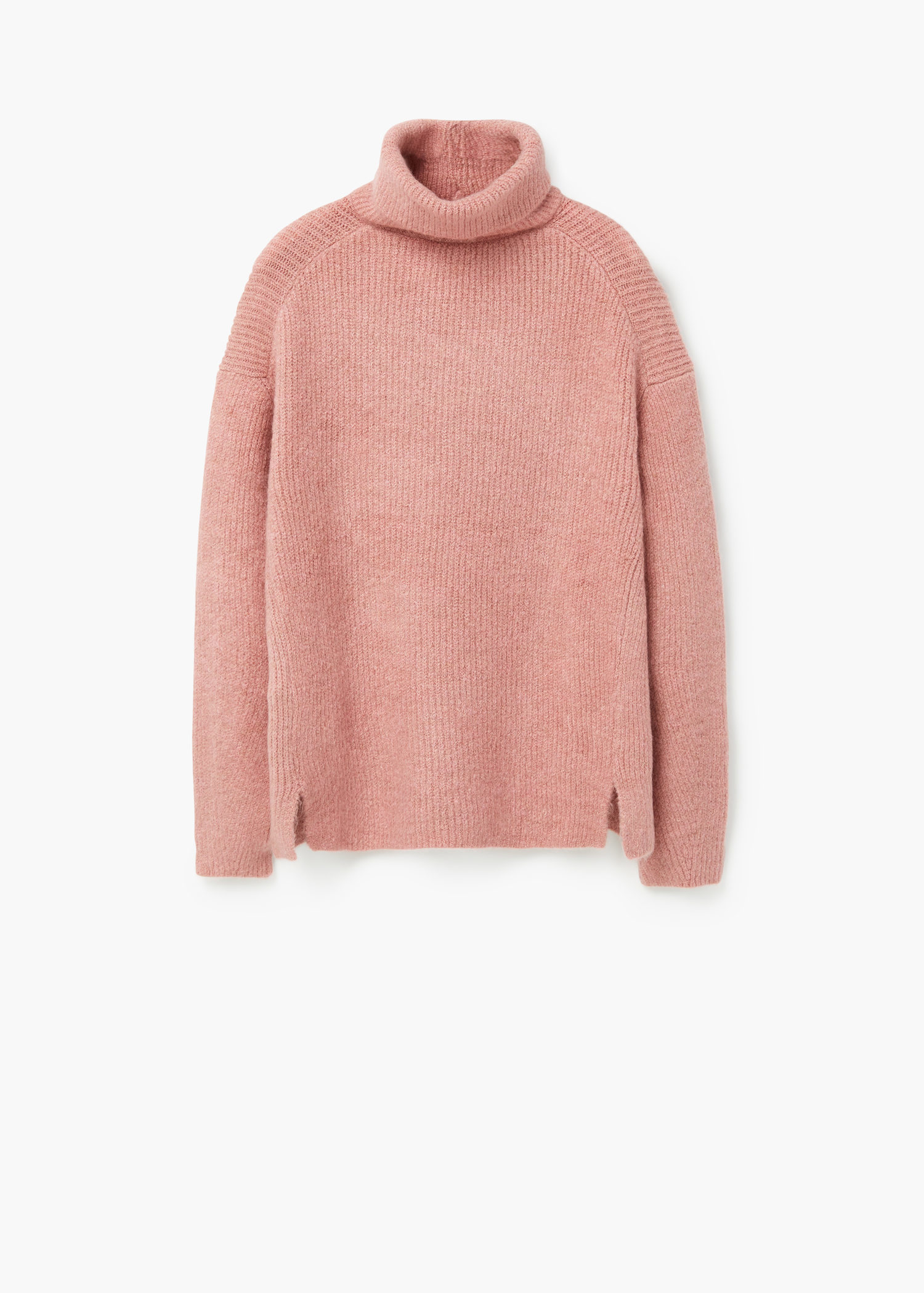 Mango Turtleneck Sweater in Pink | Lyst