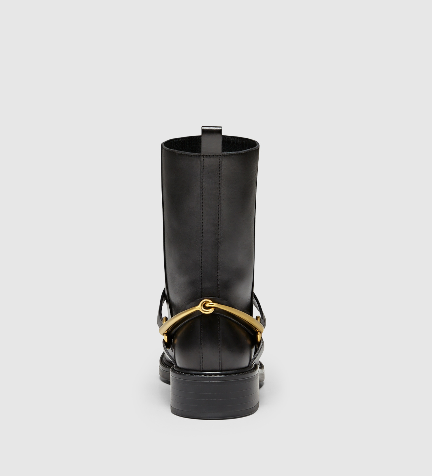 c256dff90 Gucci Tess Leather Horsebit Ankle Boot in Black - Lyst