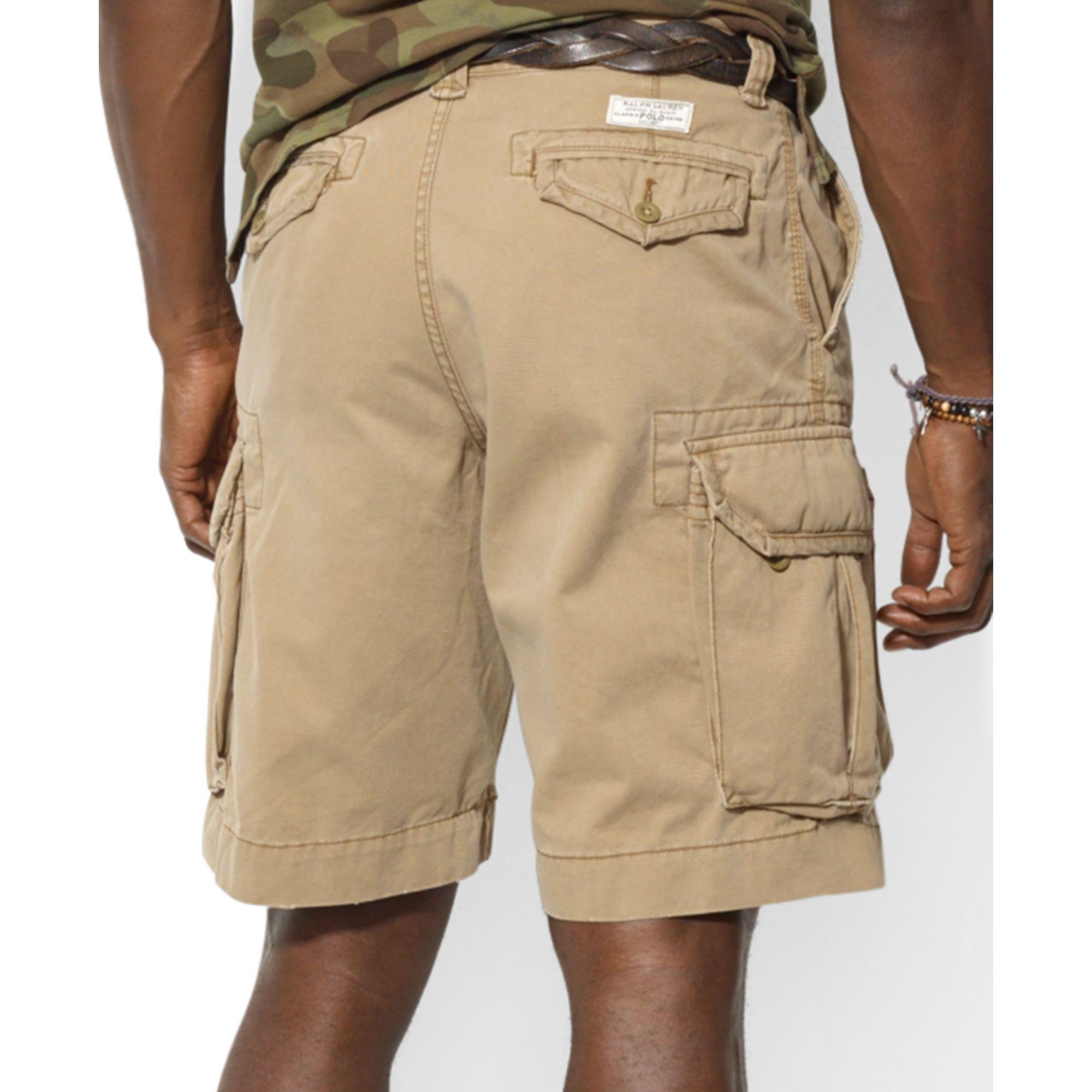 5e13d223f3 Ralph Lauren Big and Tall Gellar Cargo Shorts in Natural for Men - Lyst