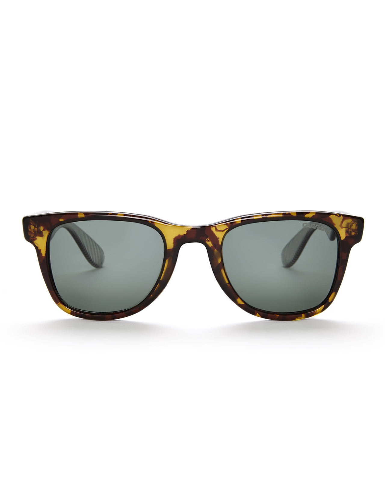 904257e14c Lyst - Carrera 6000 Yellow Printed Polarized Wayfarer Sunglasses in ...