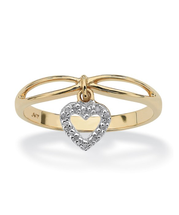 Small K Gold Ring