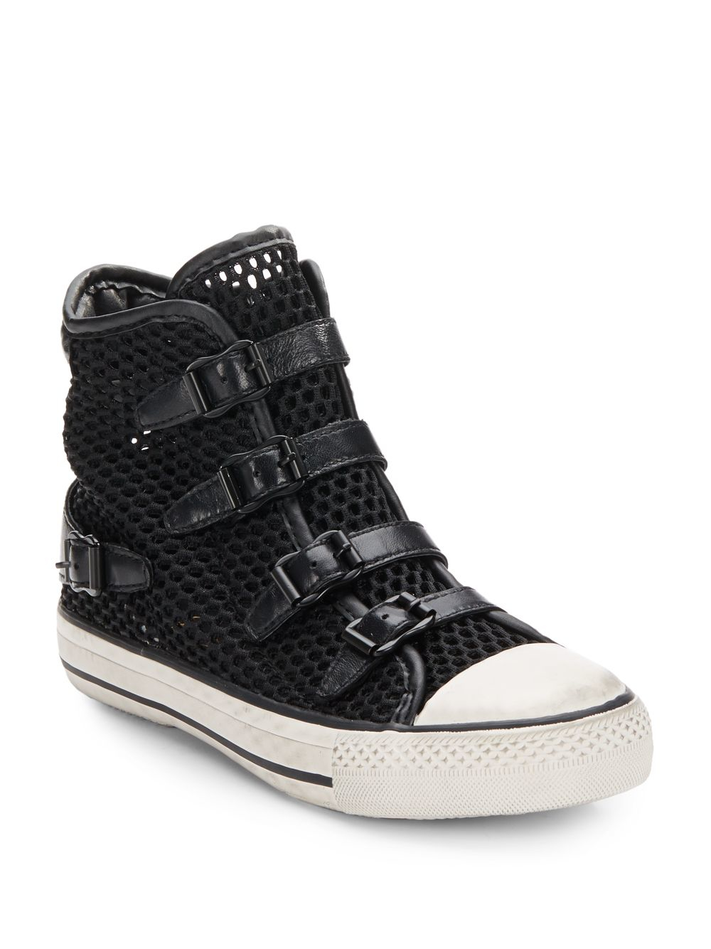 lyst ash vanessa mesh high top sneakers in black. Black Bedroom Furniture Sets. Home Design Ideas