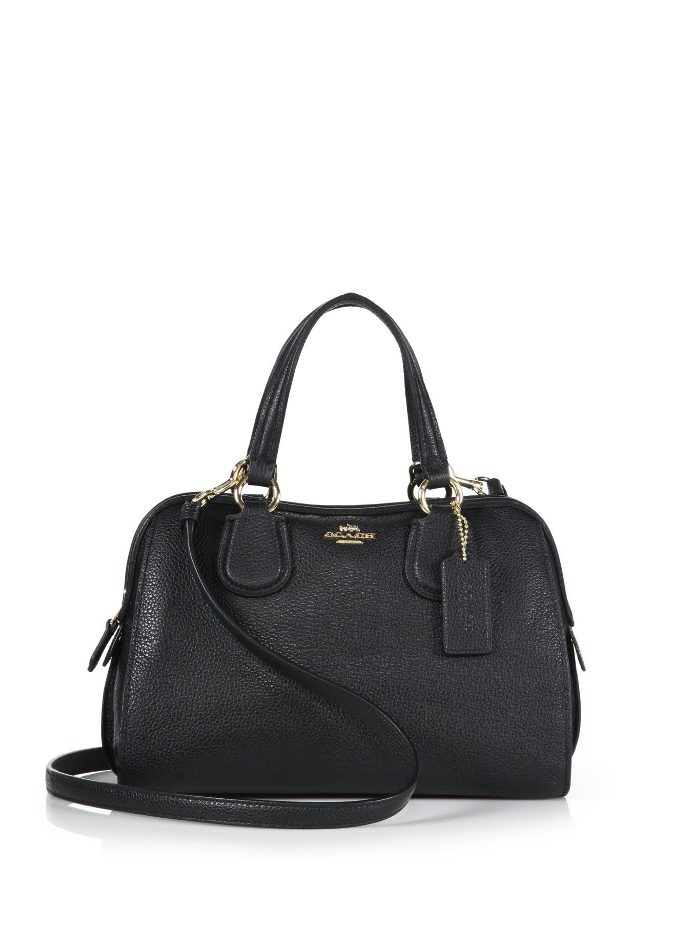f012e8ad2a ... leather 34370 fdf01 1dc3c official store lyst coach nolita mini satchel  in black 18350 67842 ...