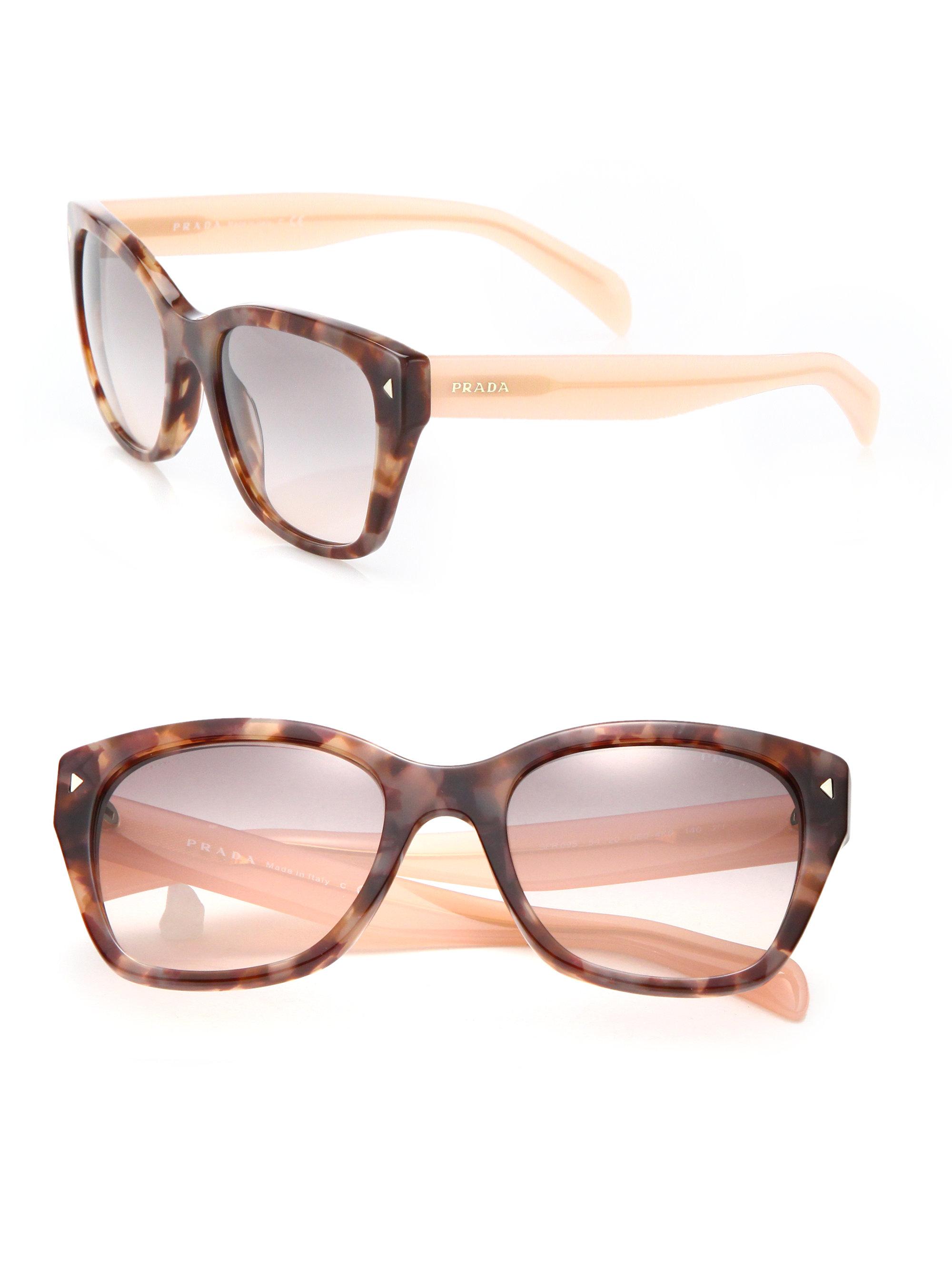 cdb73864ca6b spain lyst prada 54mm square acetate sunglasses in pink 8db98 8bbba