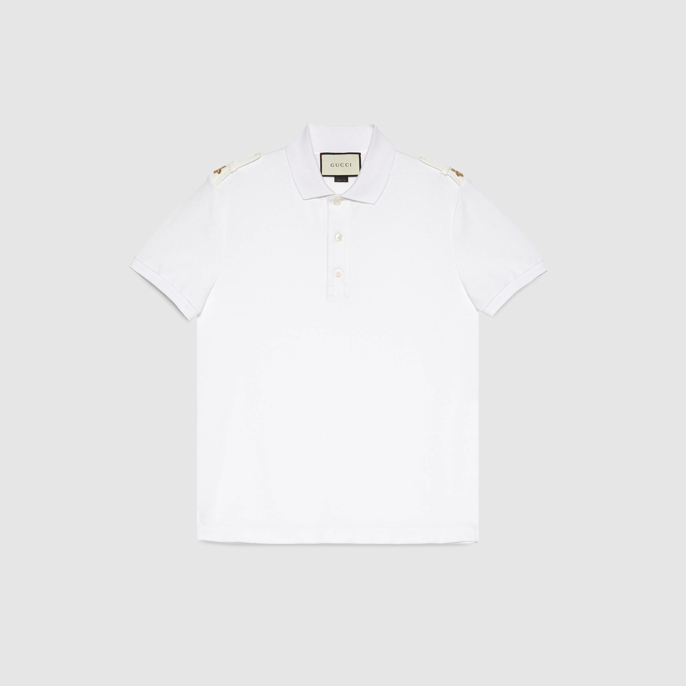 39b963b5557 Gucci Cotton Polo With Bees in White for Men - Lyst
