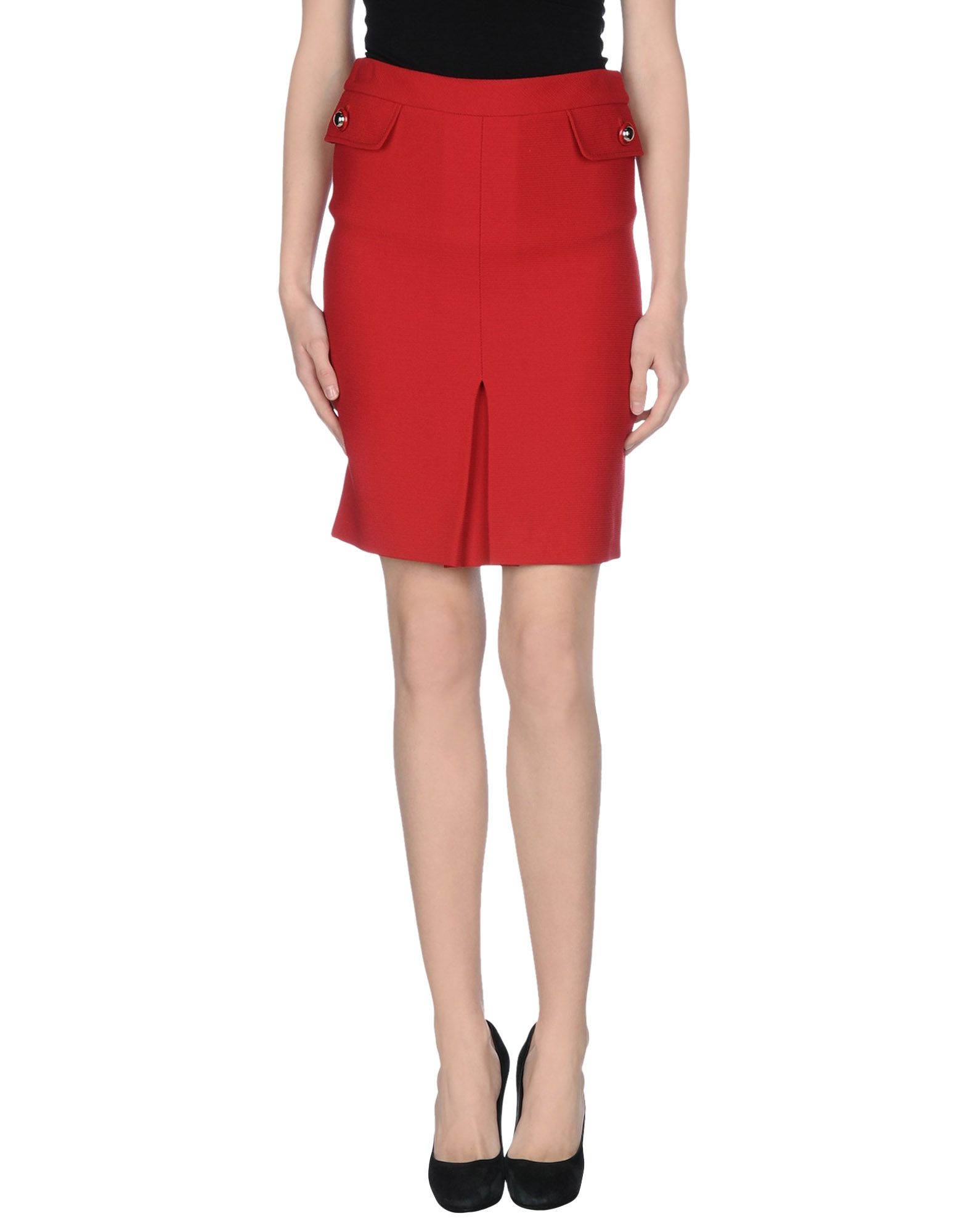 boutique moschino knee length skirt in lyst