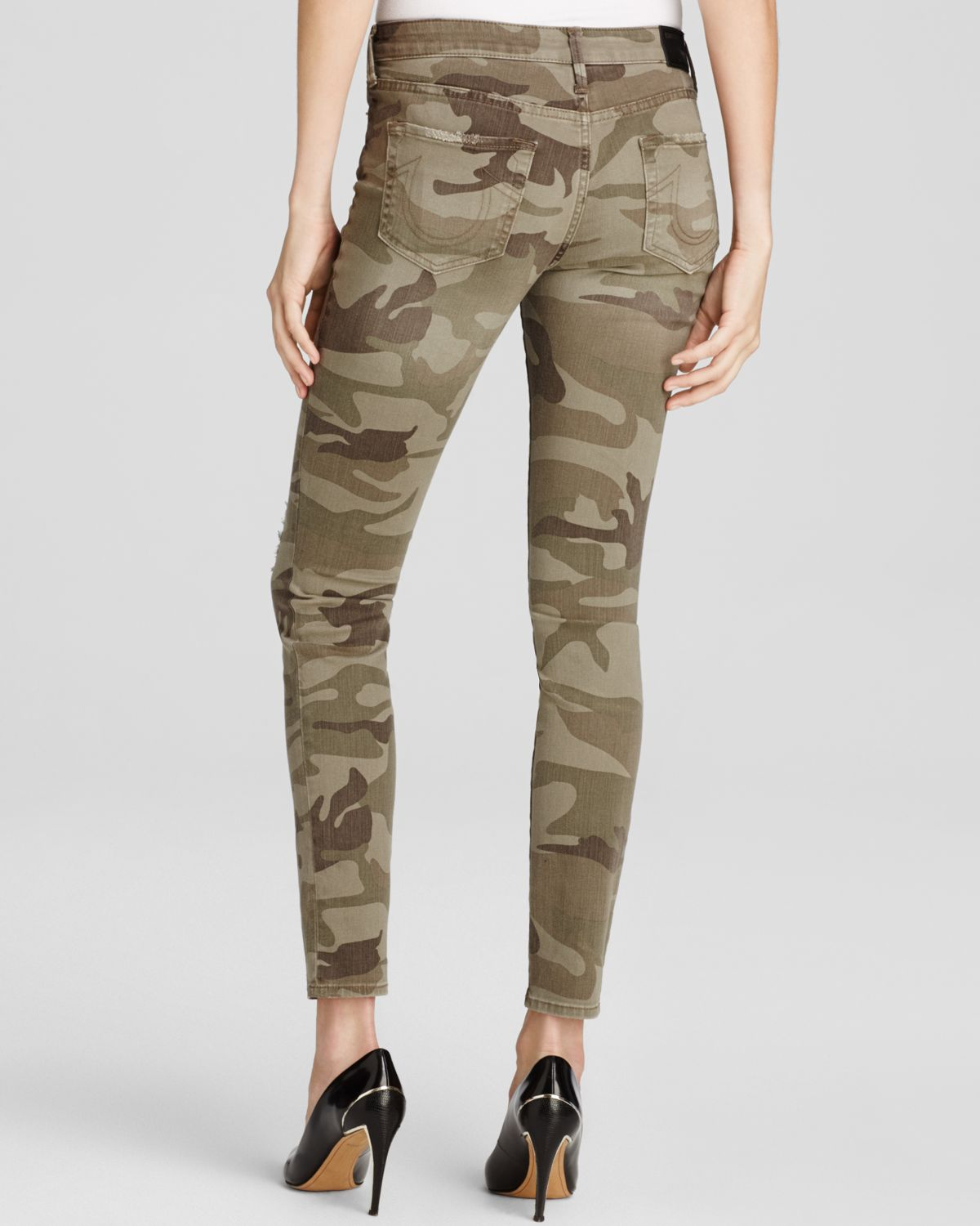 Lyst True Religion Jeans Halle Mid Rise Super Skinny