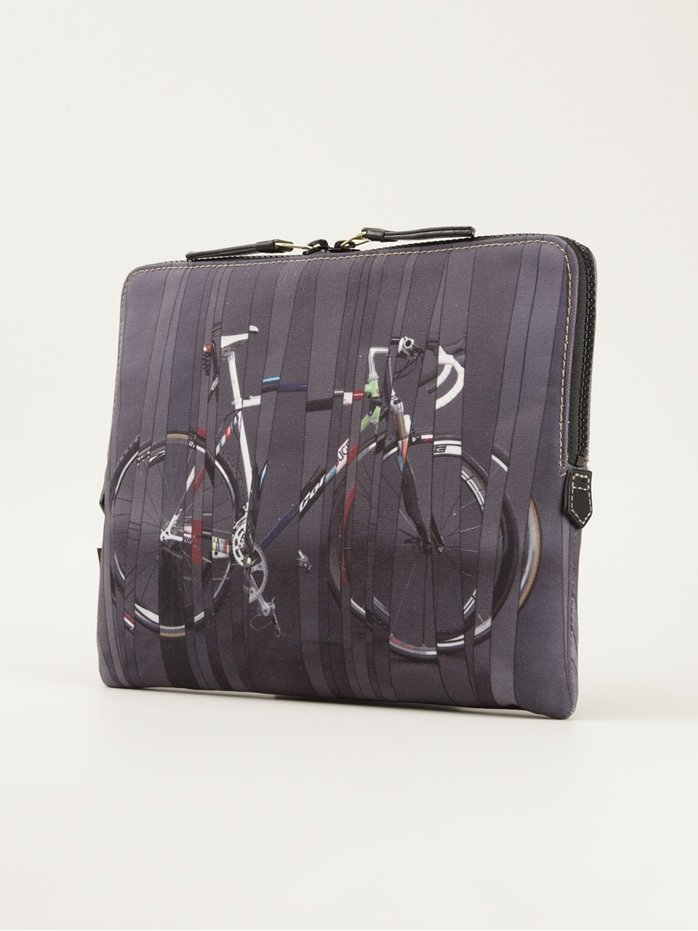 paul smith bicycle print laptop case in gray for men lyst. Black Bedroom Furniture Sets. Home Design Ideas