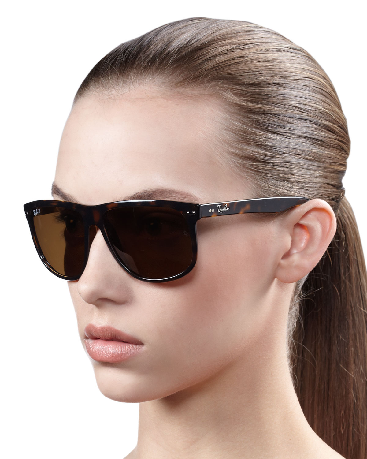 Oversized Wayfarer Sunglasses  ray ban oversize polarized wayfarer sunglasses in black lyst