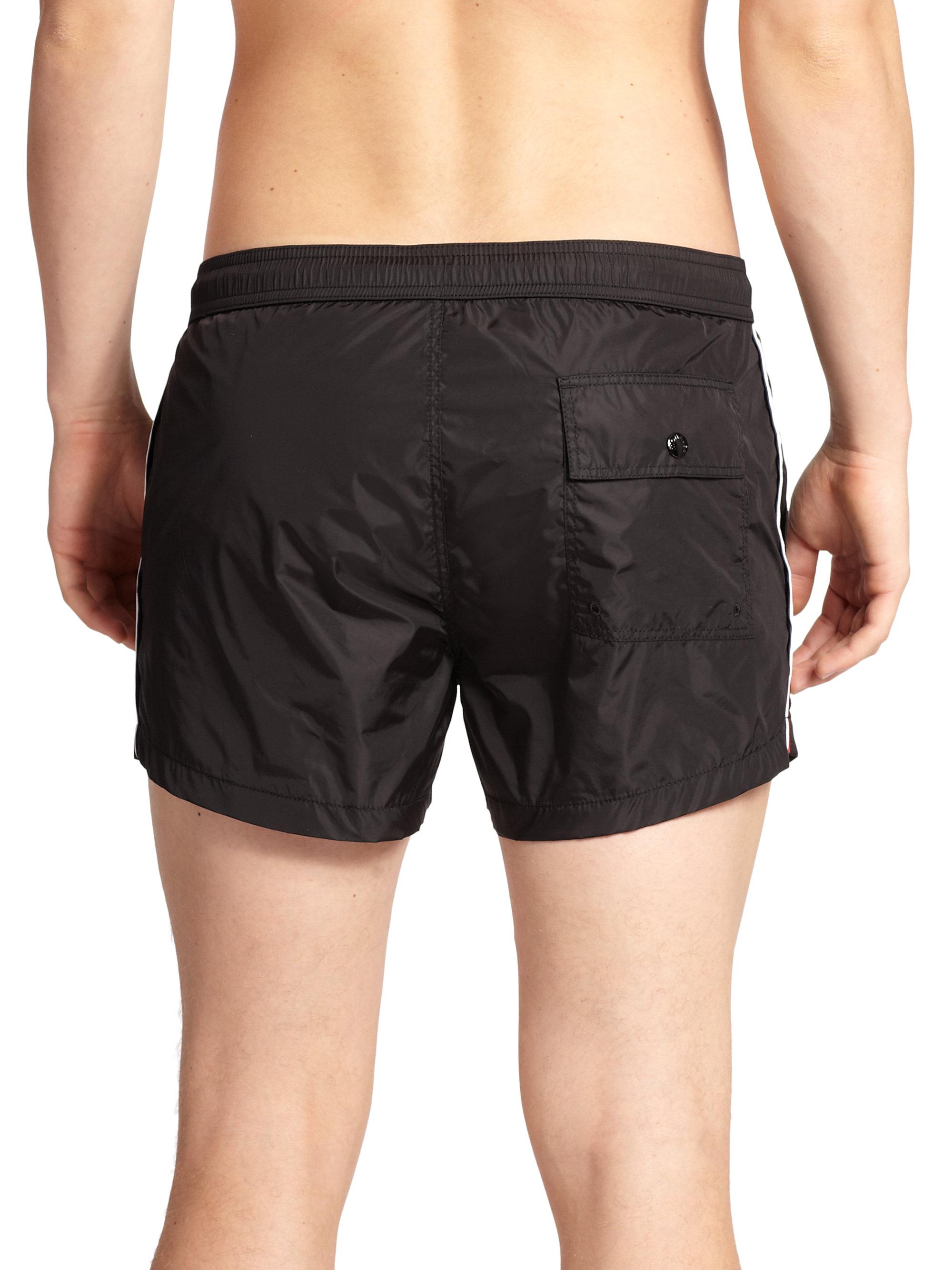 5e2b86284d Moncler Nylon Swim Shorts in Black for Men - Lyst
