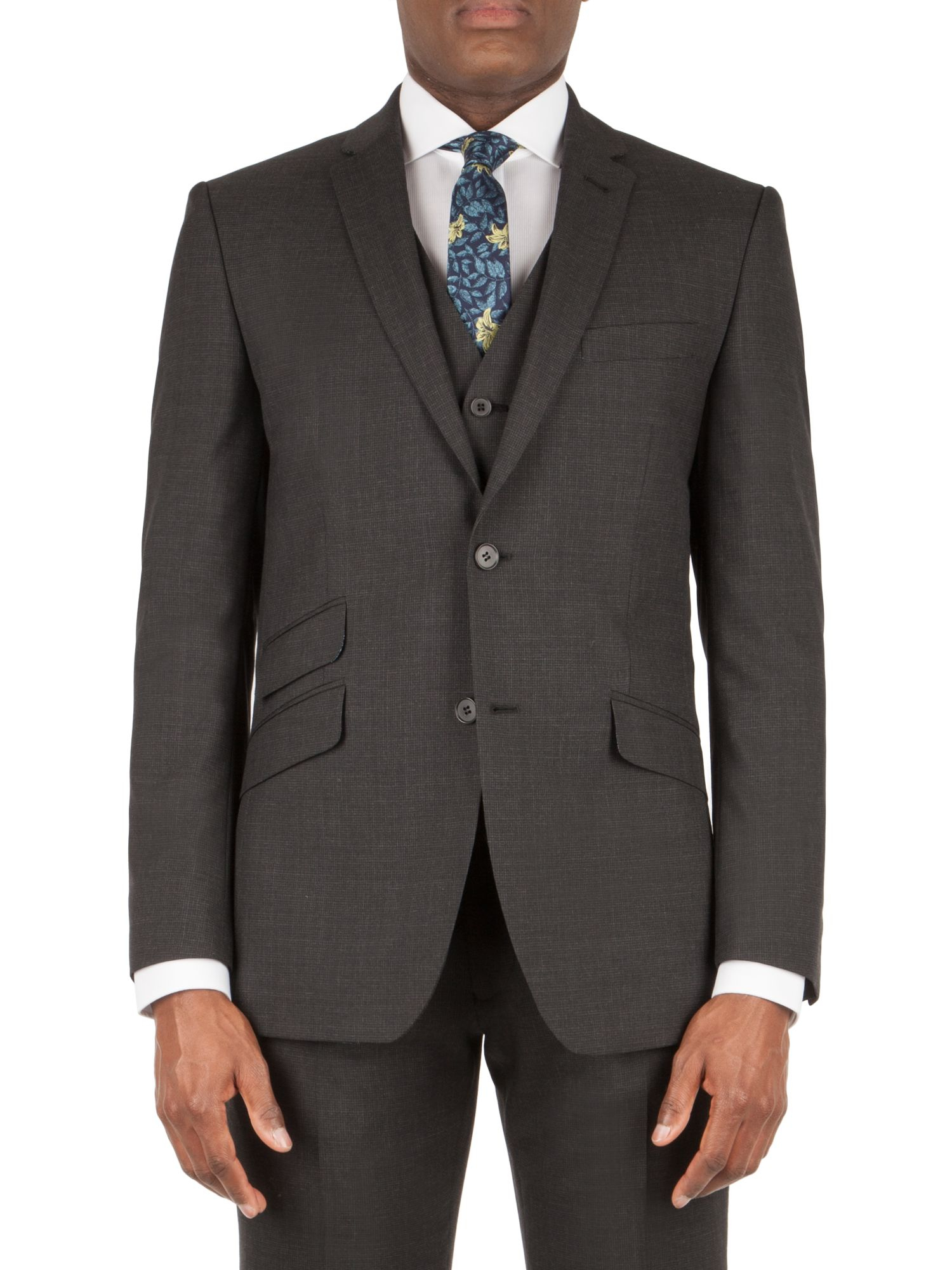 Racing green Barnes Puppytooth Tailored Jacket in Black for Men | Lyst