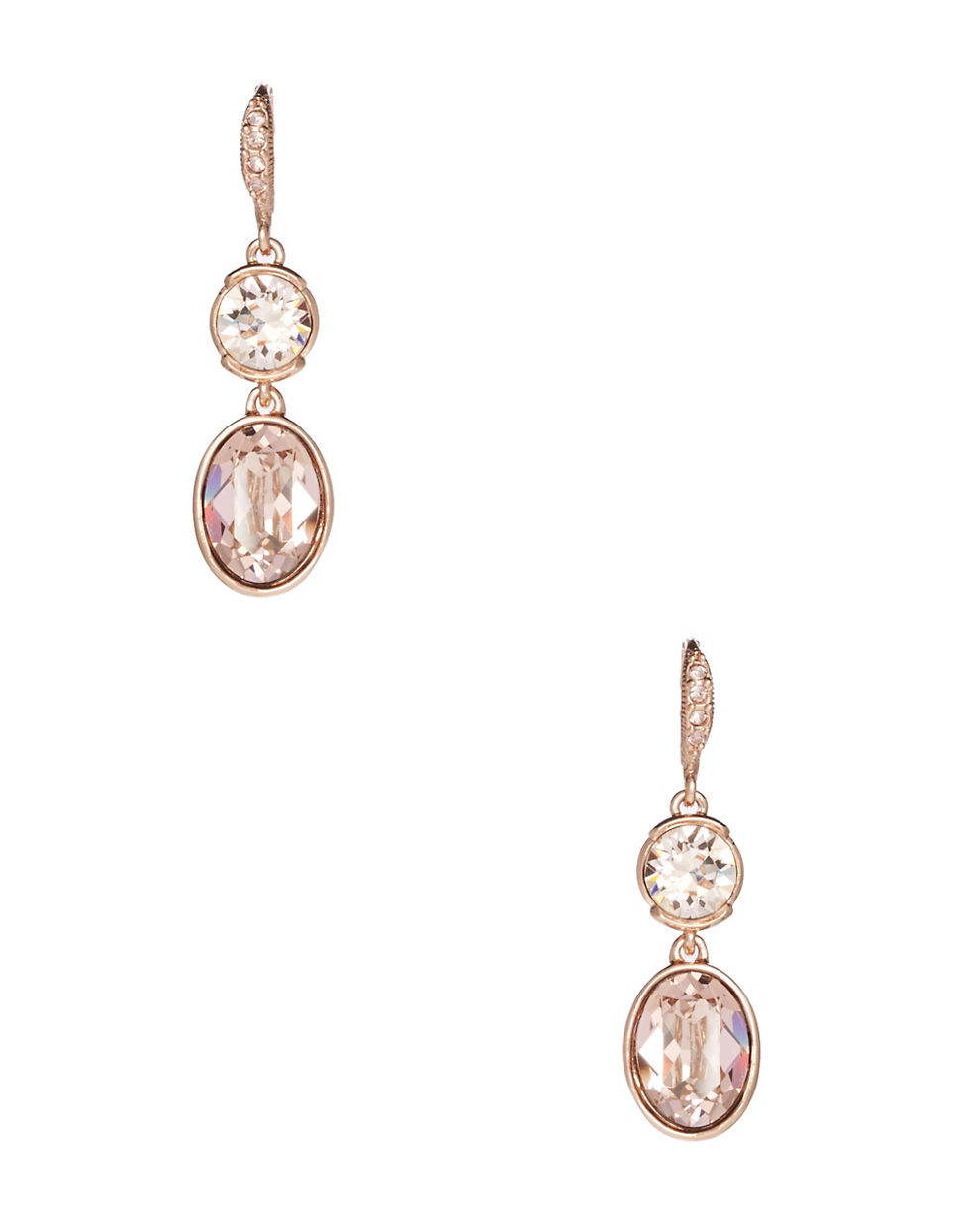 givenchy glitz drop earrings goldtone in pink