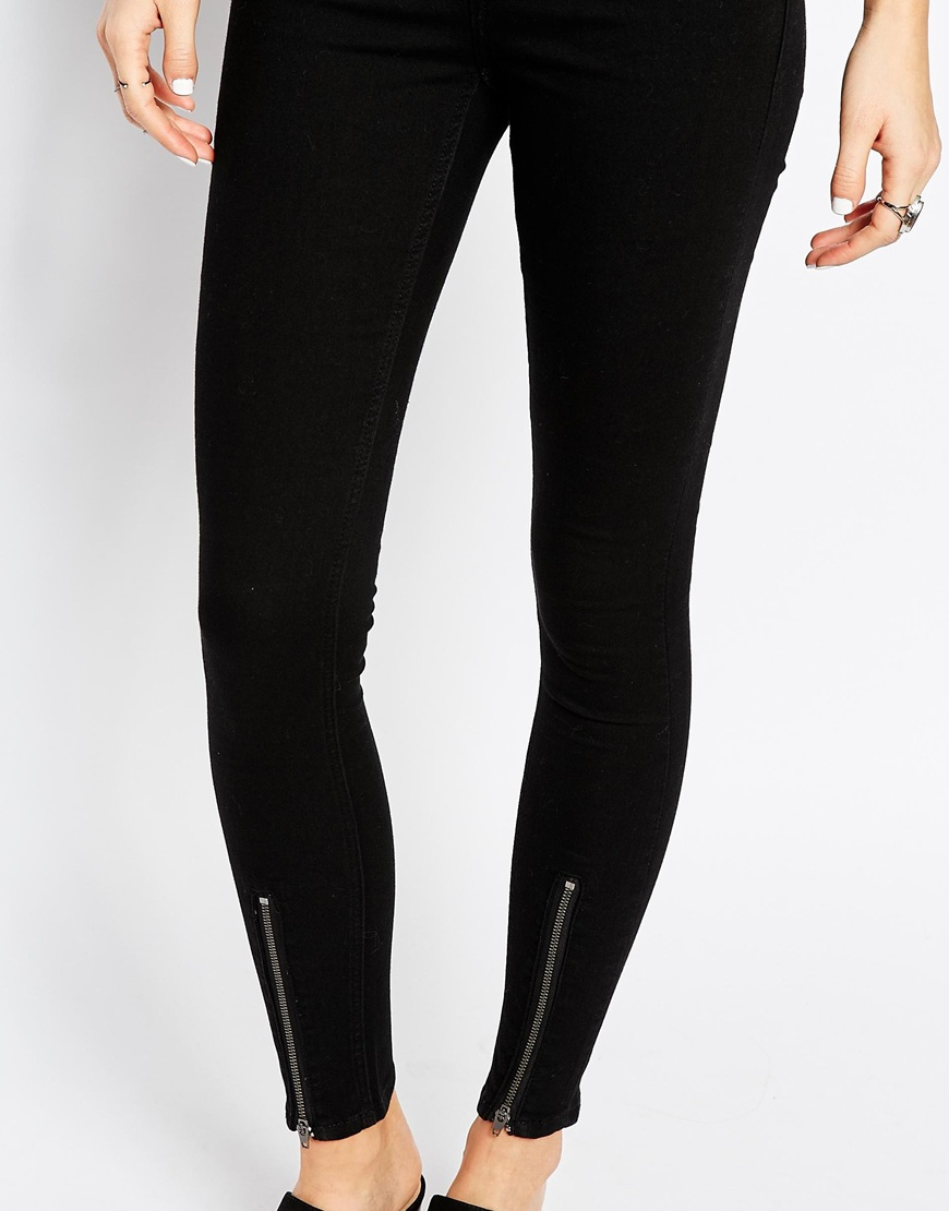 Cheap monday High Spray High Waist Superskinny Jeans With Zip ...