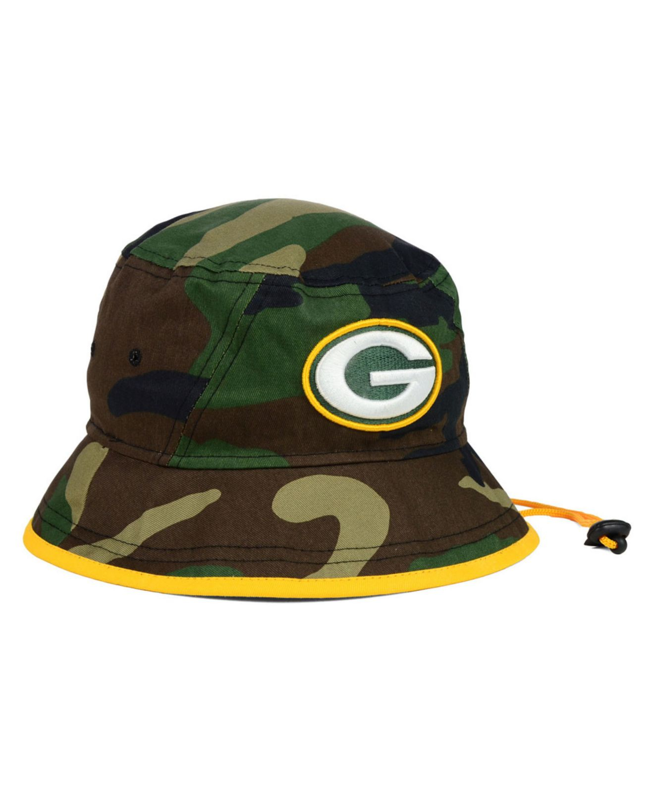 pretty nice 25f9d fdc0d ... where can i buy lyst ktz green bay packers camo pop bucket hat in green  for