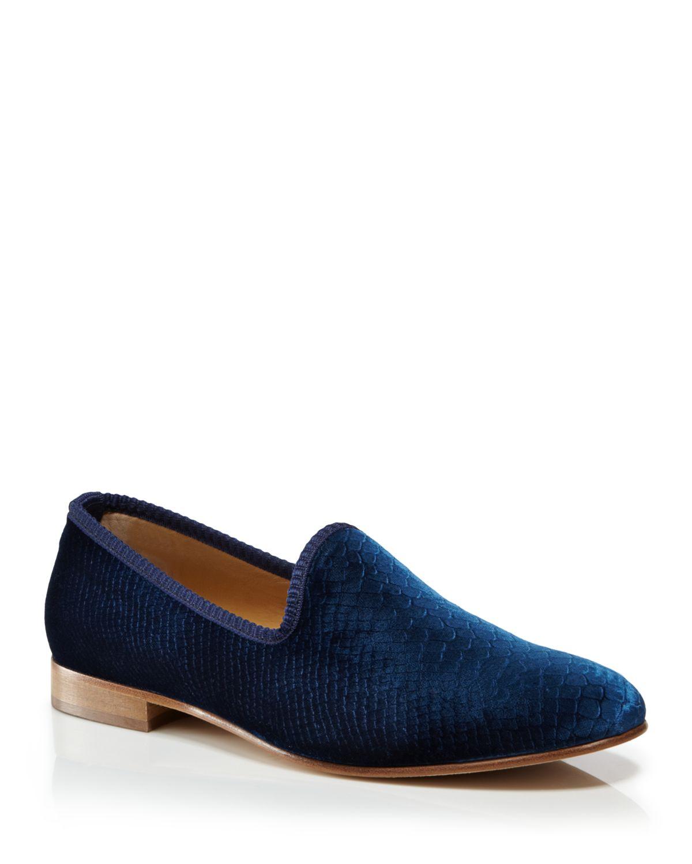 DEL TORO Velvet Embossed Loafers uM6w57NB0g