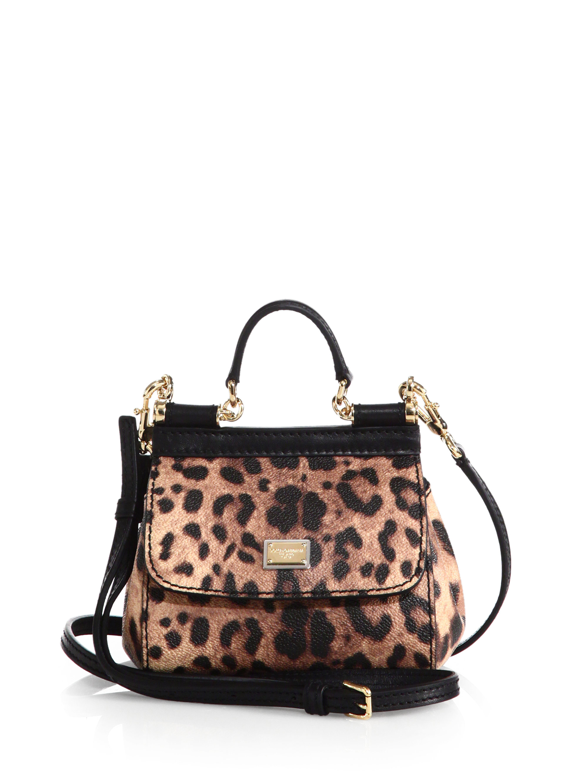 Lyst - Dolce   Gabbana Sicily Micro Leopard-print Textured Leather ... 9ce282d5d343d
